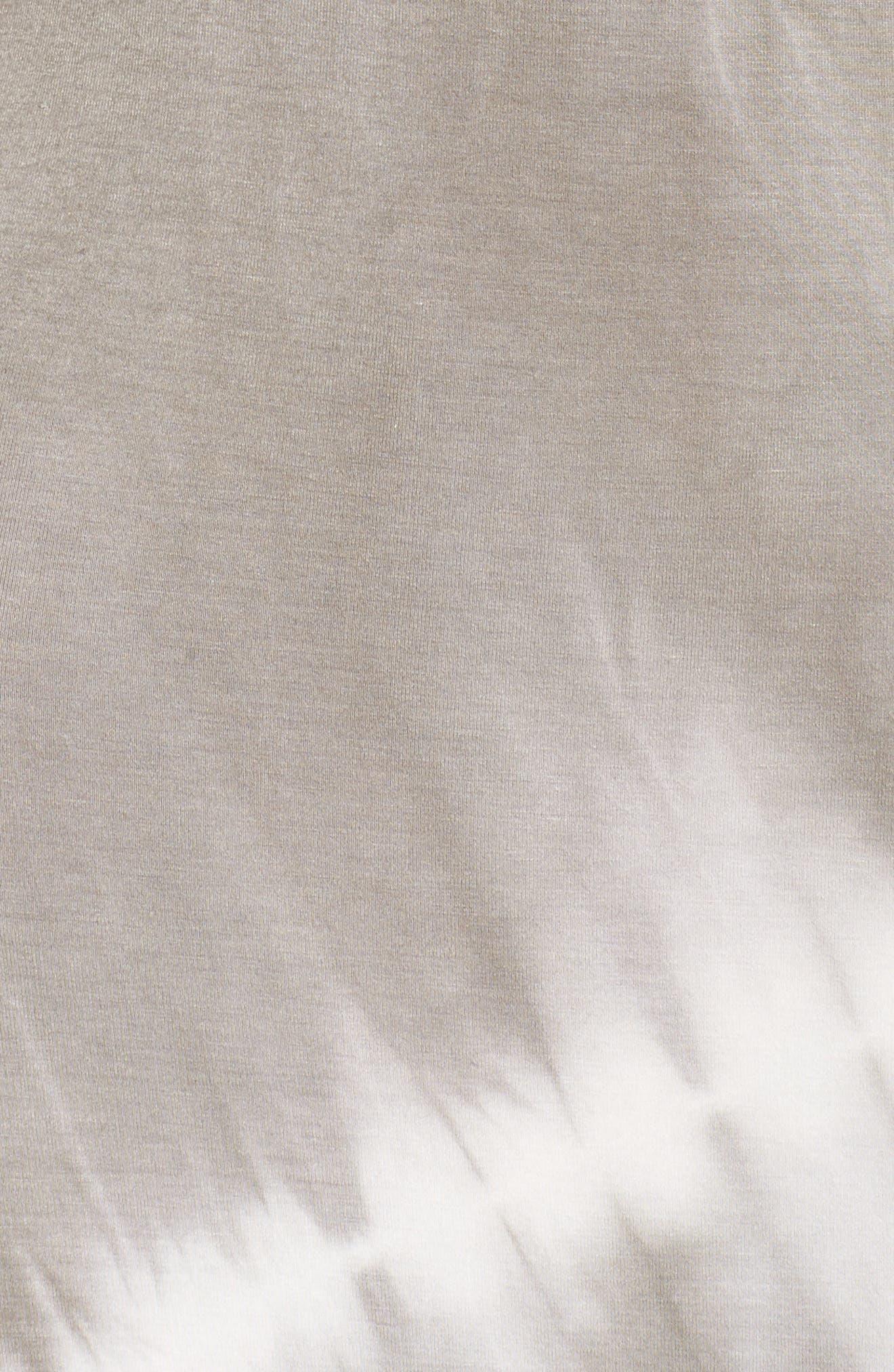 Tie Dye Racerback Maxi Dress,                             Alternate thumbnail 6, color,                             GREY/ WHITE