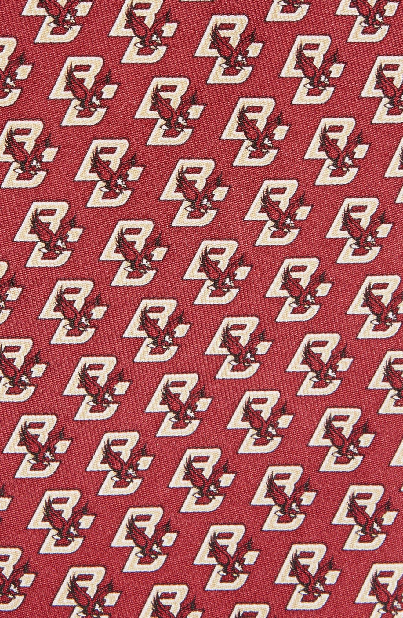 Boston College Silk Tie,                             Alternate thumbnail 2, color,                             605