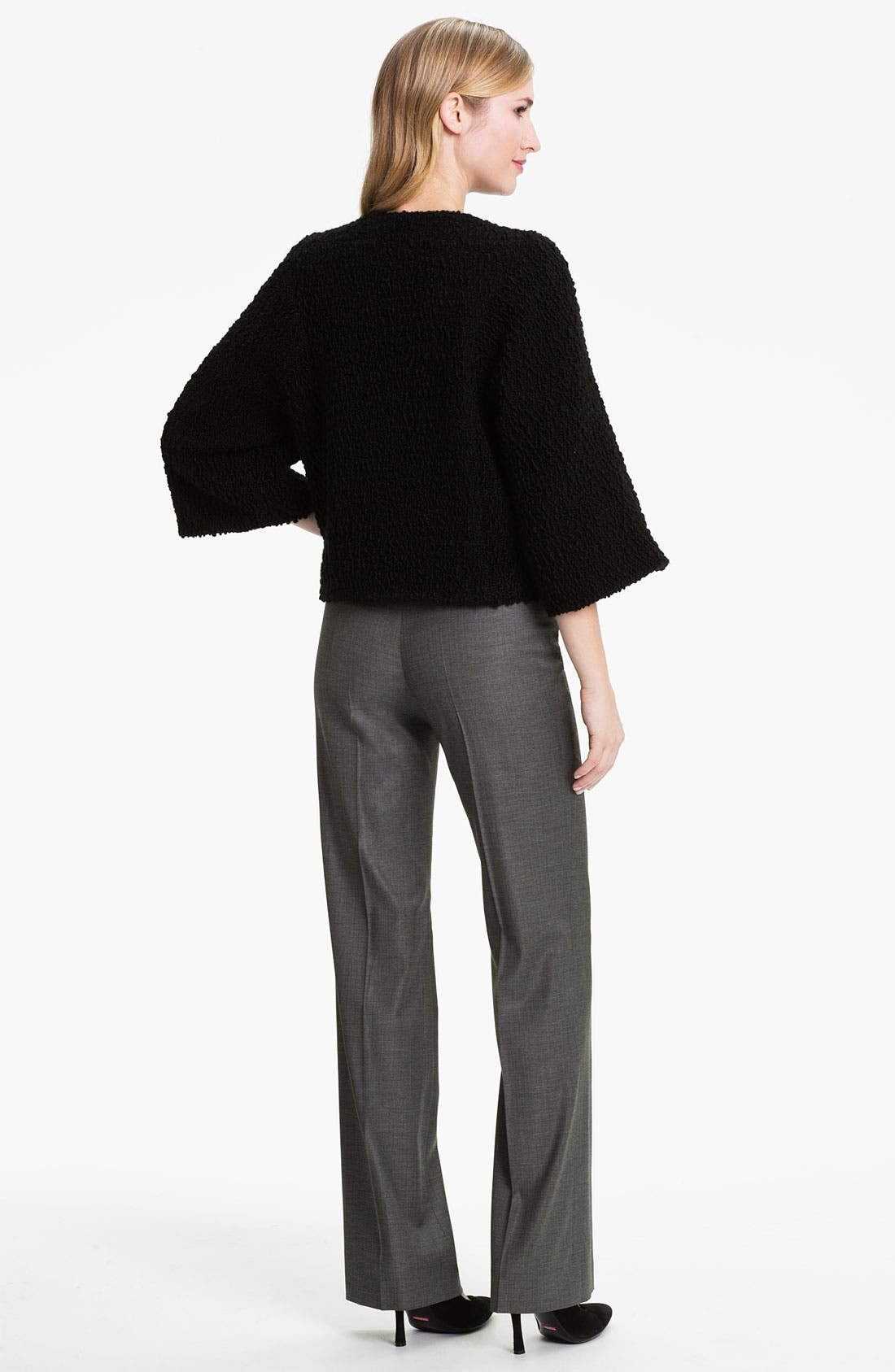 Black 'Tulia' Trousers,                             Alternate thumbnail 7, color,