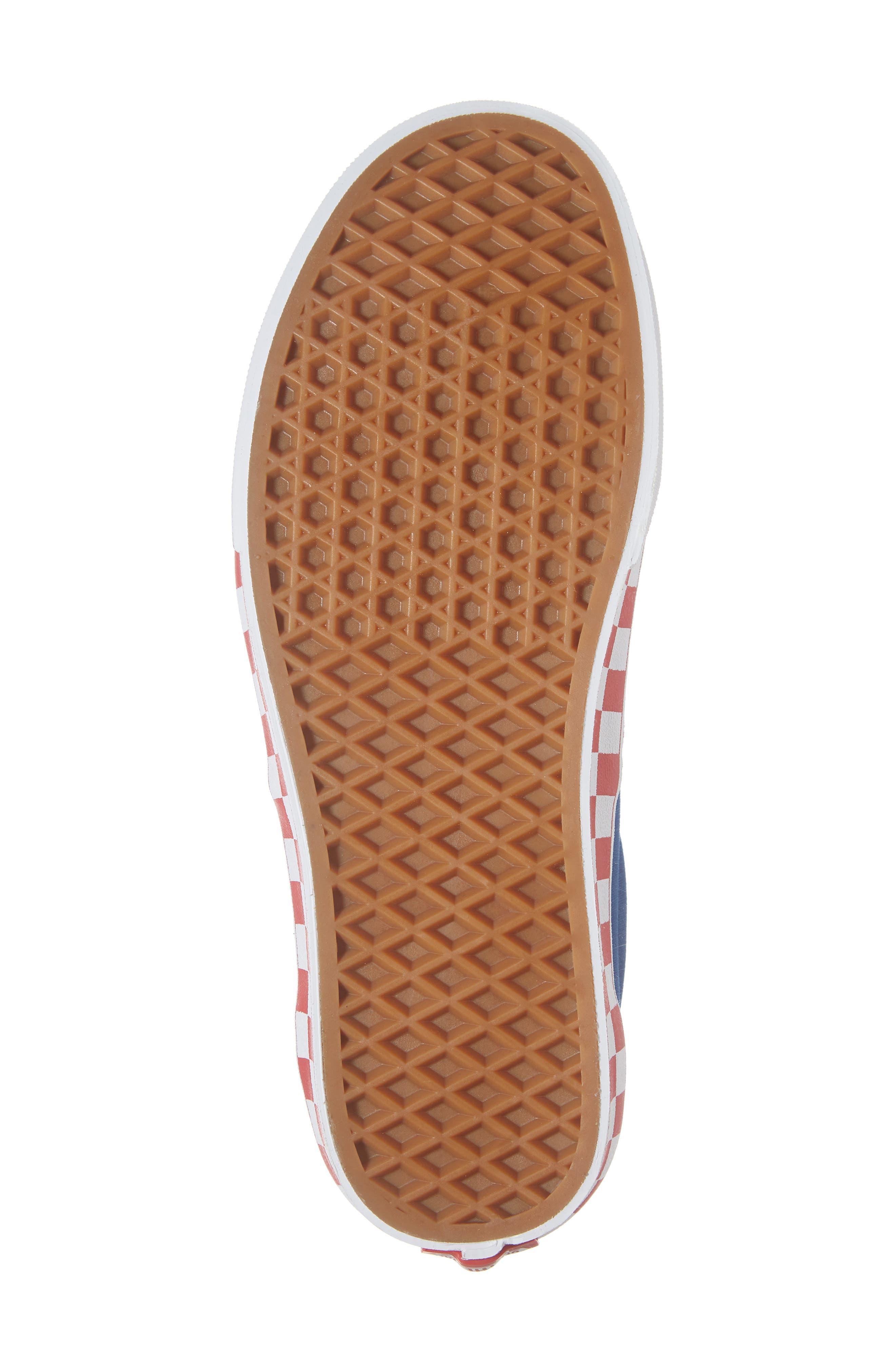 BMX Checkerboard Era Sneaker,                             Alternate thumbnail 6, color,                             BLUE/ RED CHECKER CANVAS