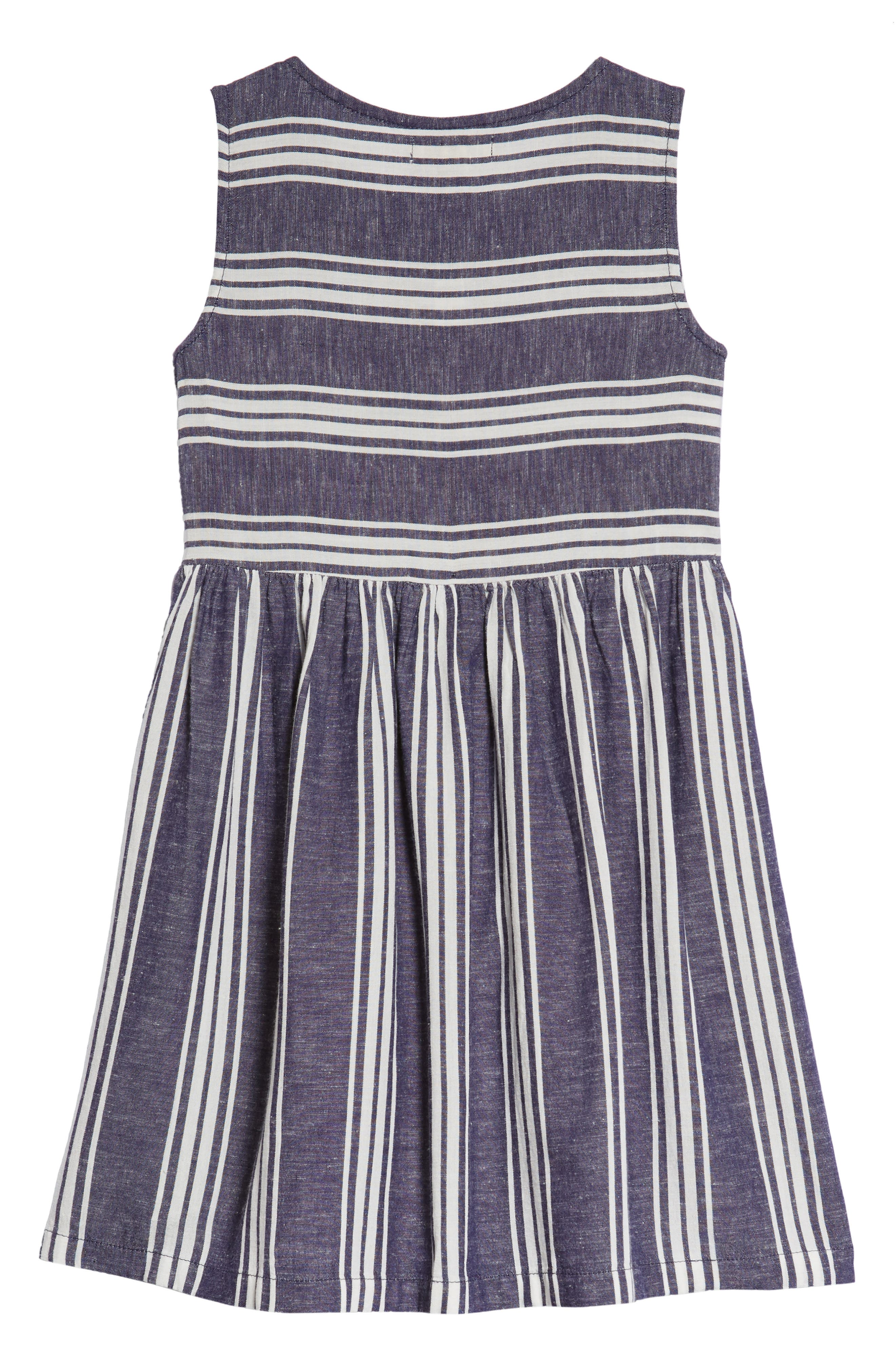 Stripe Fit & Flare Dress,                             Alternate thumbnail 2, color,
