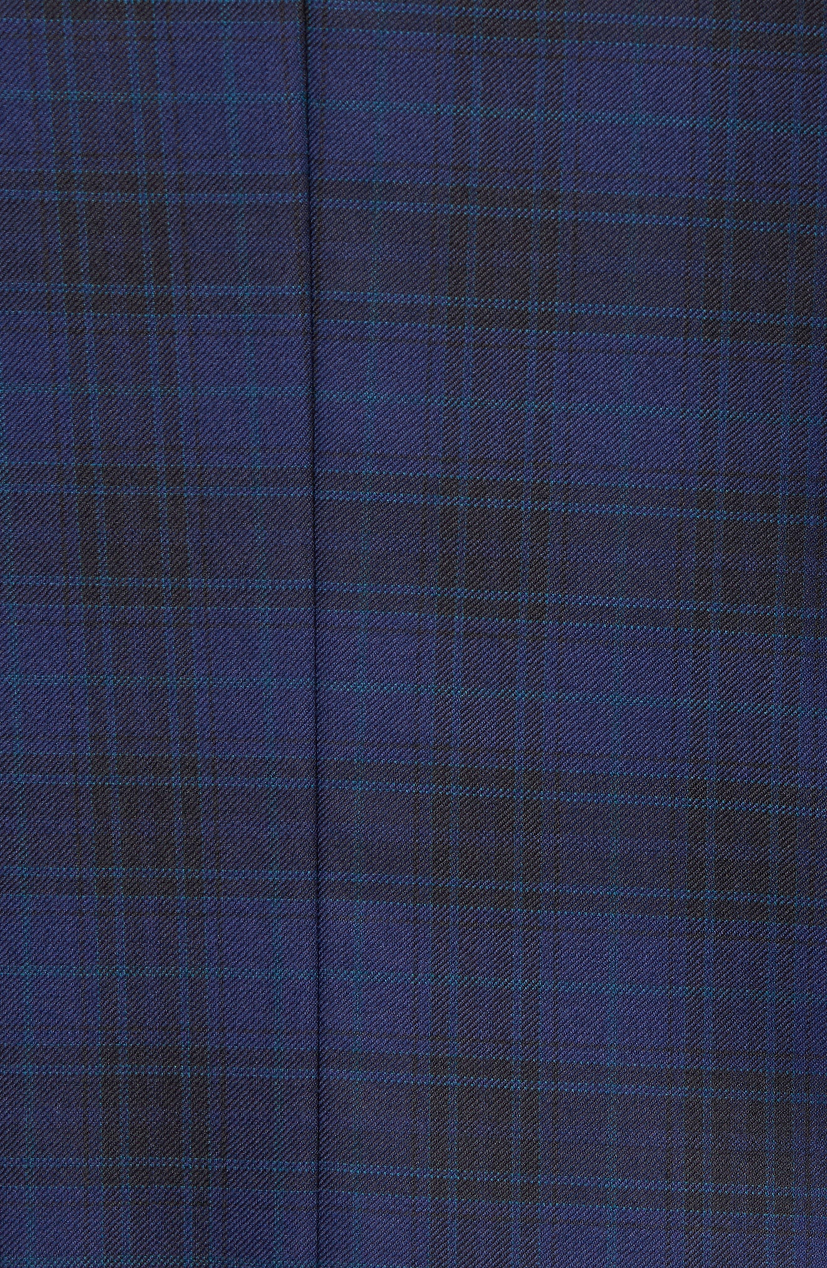 Jay Trim Fit Plaid Wool Sport Coat,                             Alternate thumbnail 6, color,
