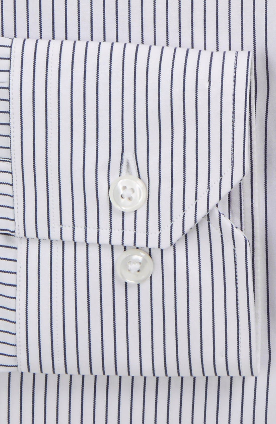 John W. Nordstrom Signature Trim Fit Stripe Dress Shirt,                             Alternate thumbnail 2, color,                             402