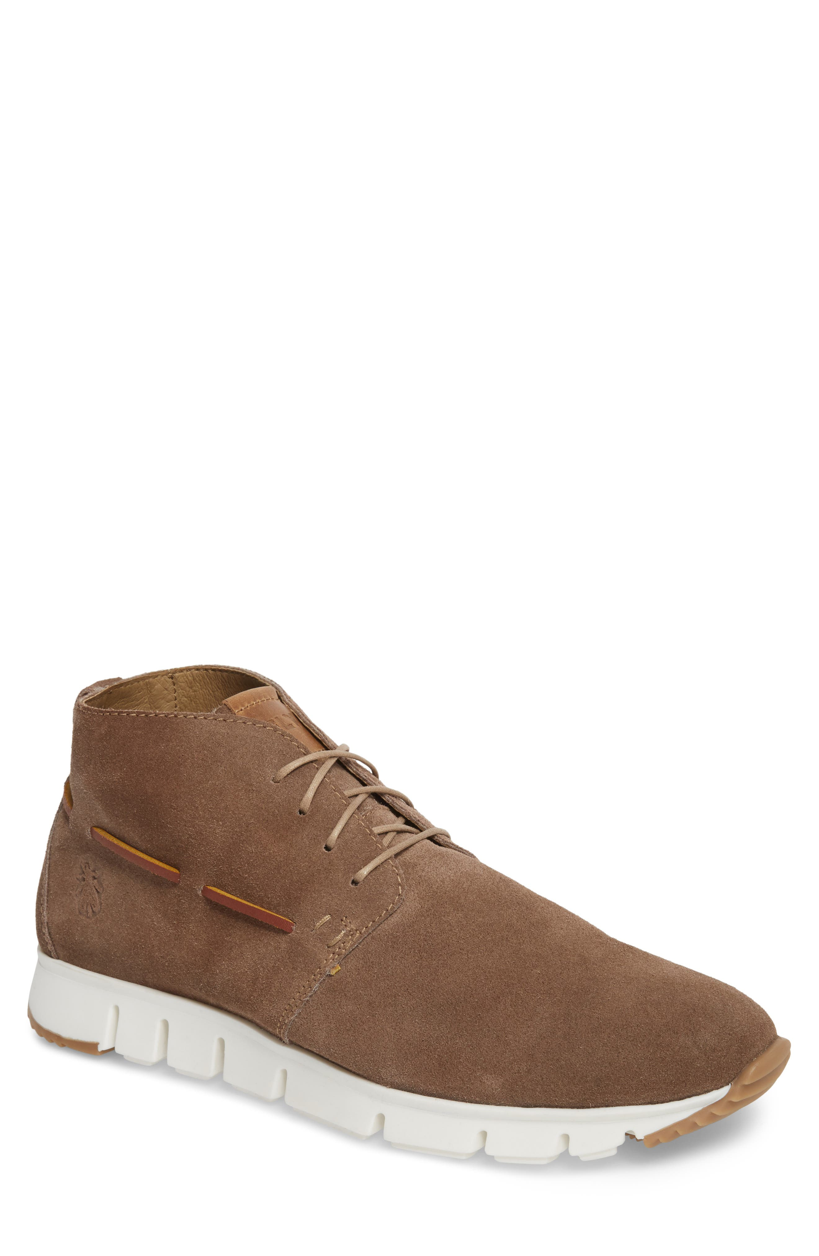 Sky High Top Sneaker,                             Main thumbnail 1, color,                             TAUPE SUEDE