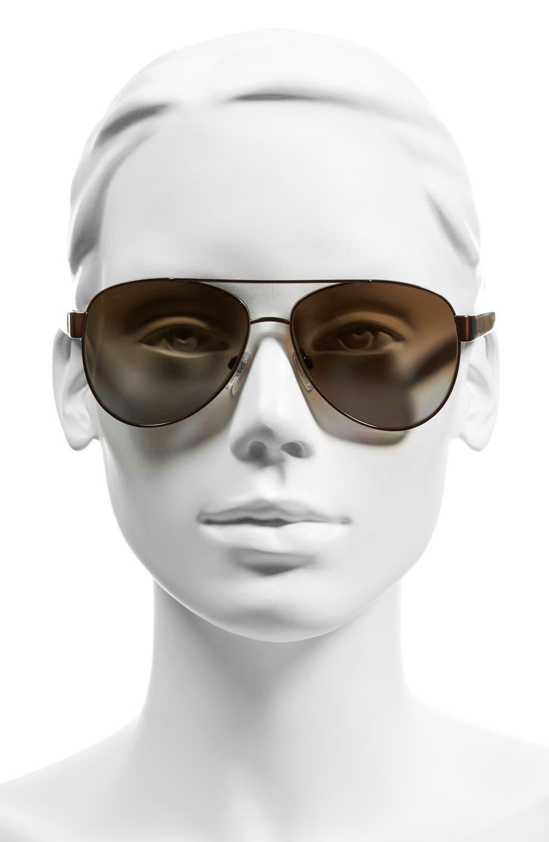 57mm Polarized Aviator Sunglasses,                             Alternate thumbnail 5, color,