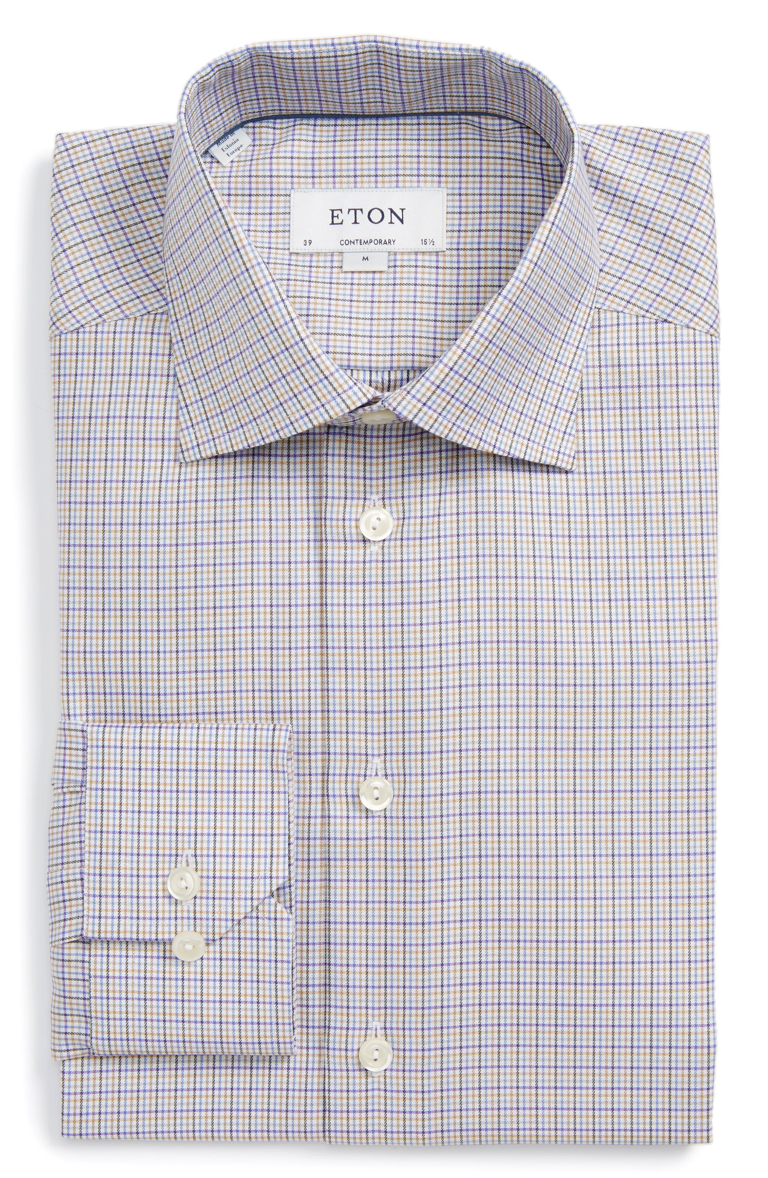 Contemporary Fit Check Dress Shirt,                         Main,                         color,
