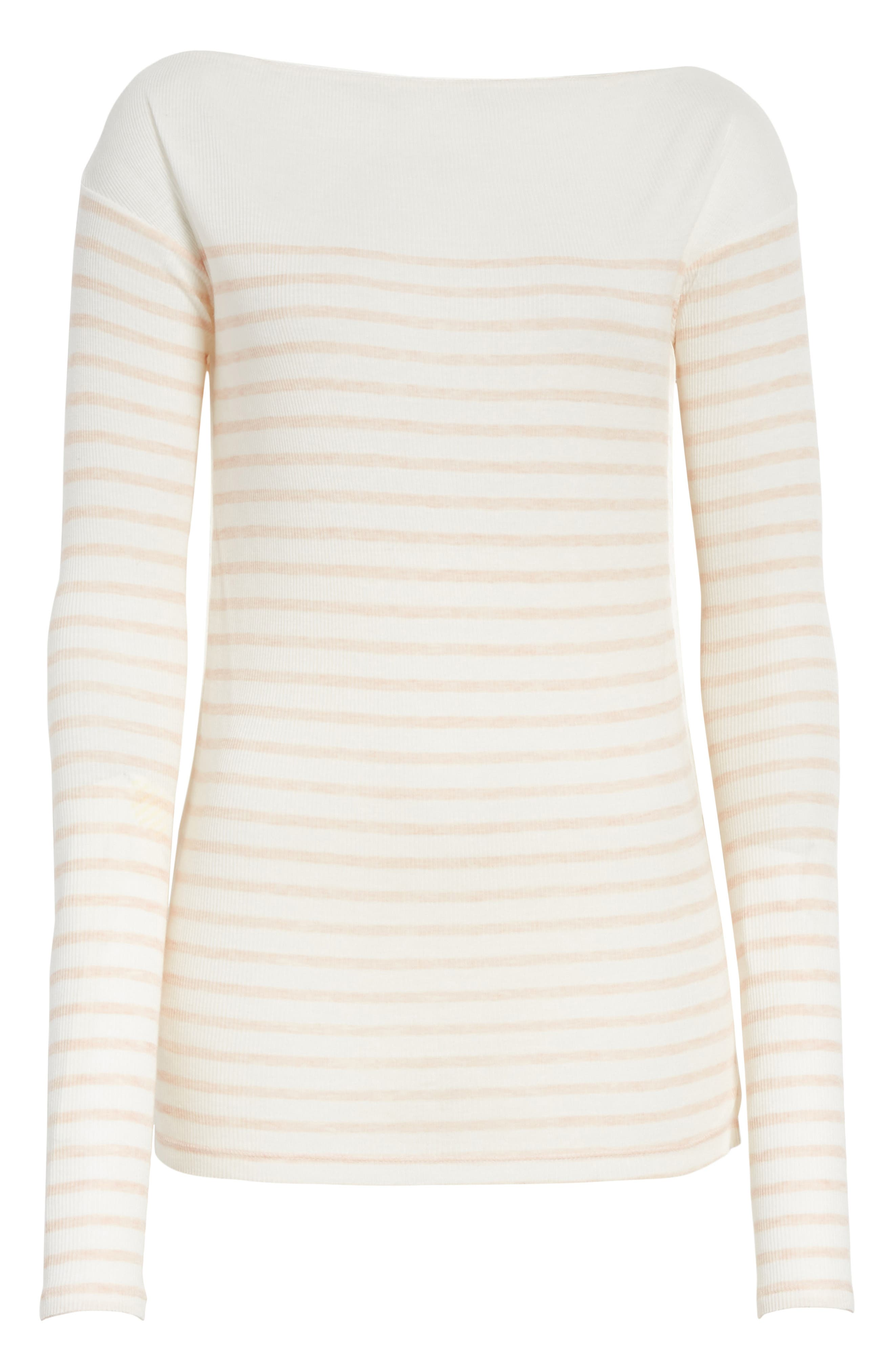 Madison Stripe Long Sleeve Top,                             Alternate thumbnail 6, color,                             900