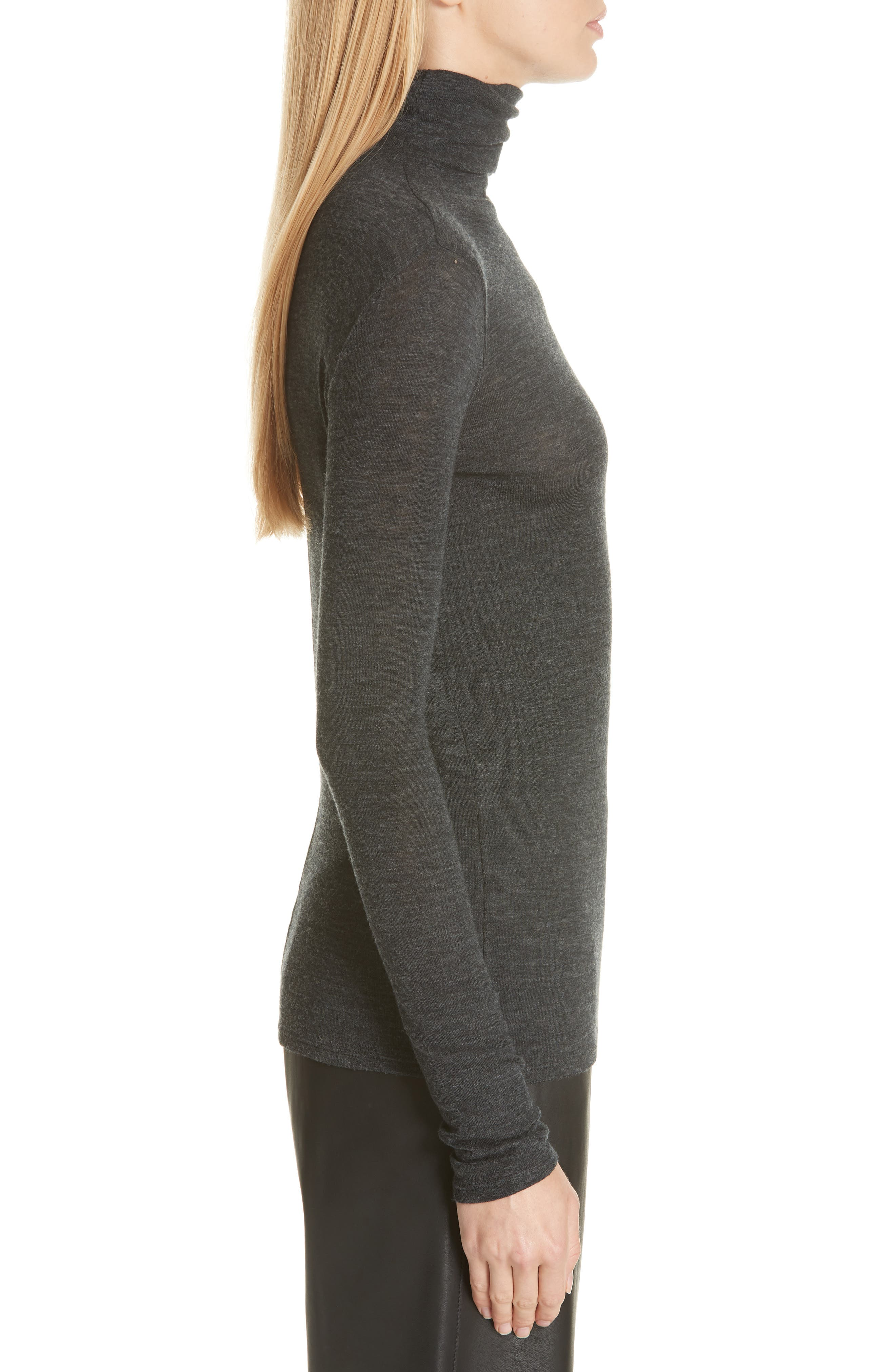 Wool Turtleneck Top,                             Alternate thumbnail 3, color,                             065