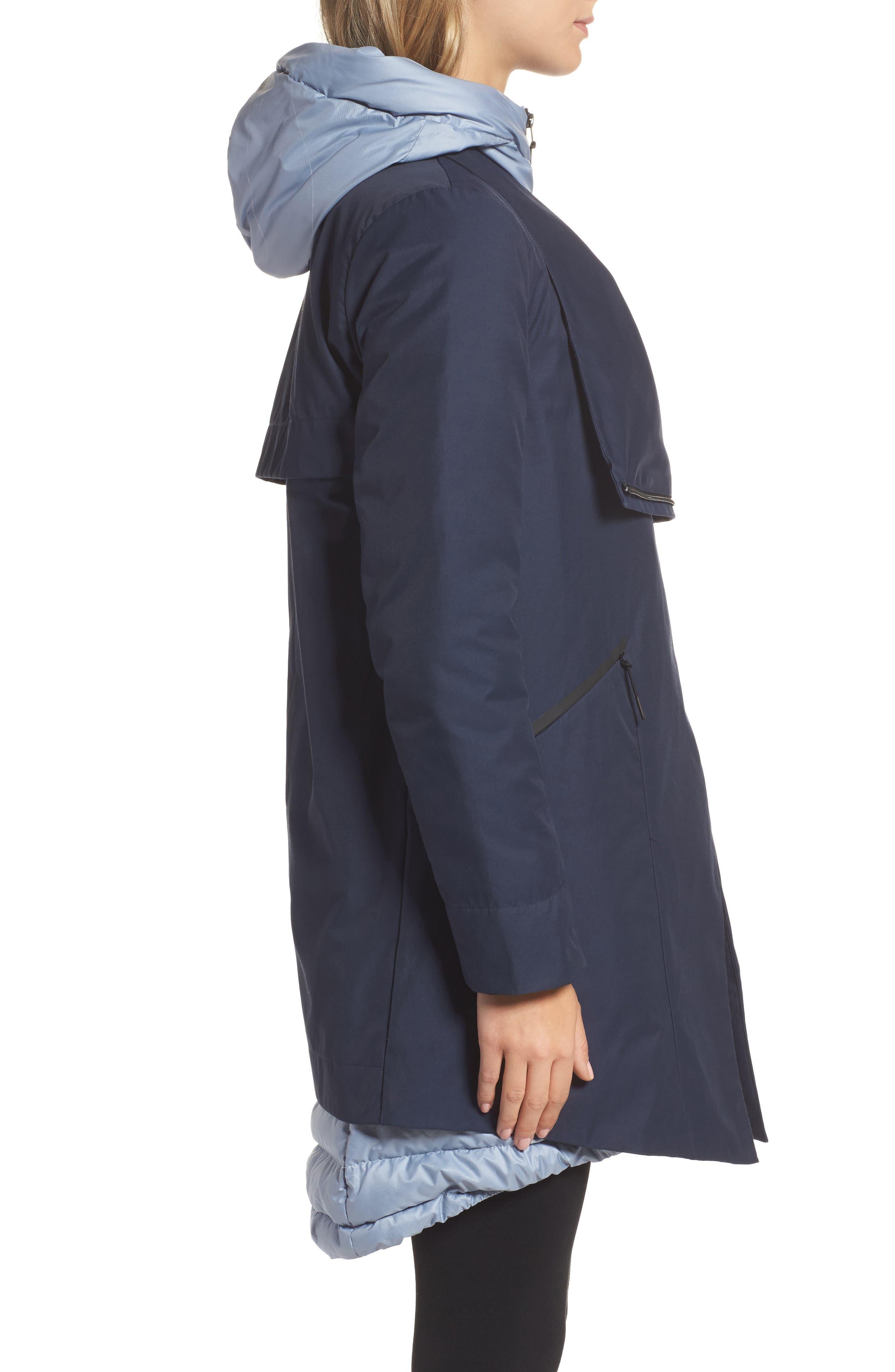Sportswear Women's AeroLoft 3-in-1 Down Fill Parka,                             Alternate thumbnail 6, color,                             OBSIDIAN/ GLACIER GREY/ BLACK