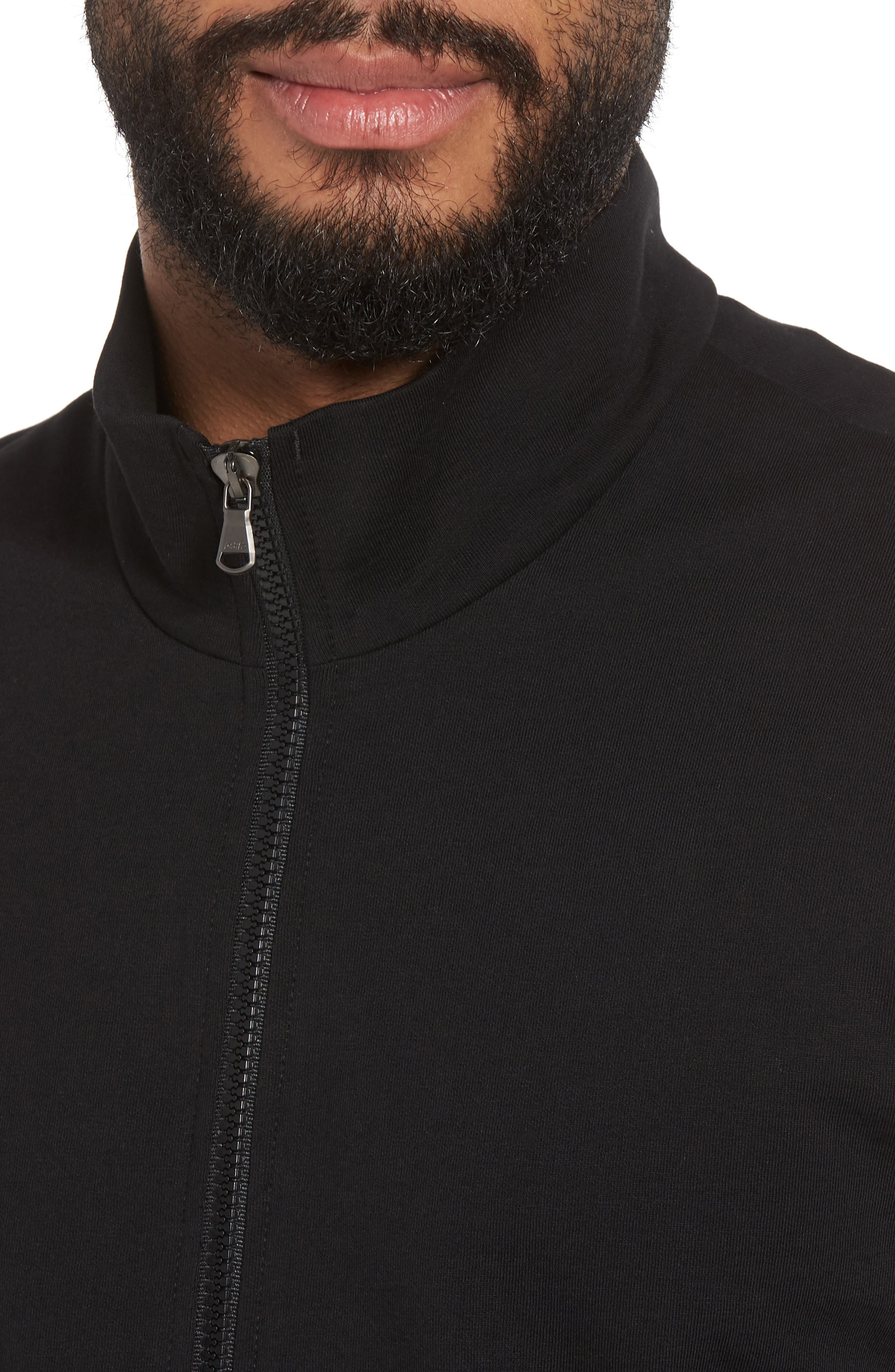 Slim Fit Compact Terry Zip Jacket,                             Alternate thumbnail 7, color,