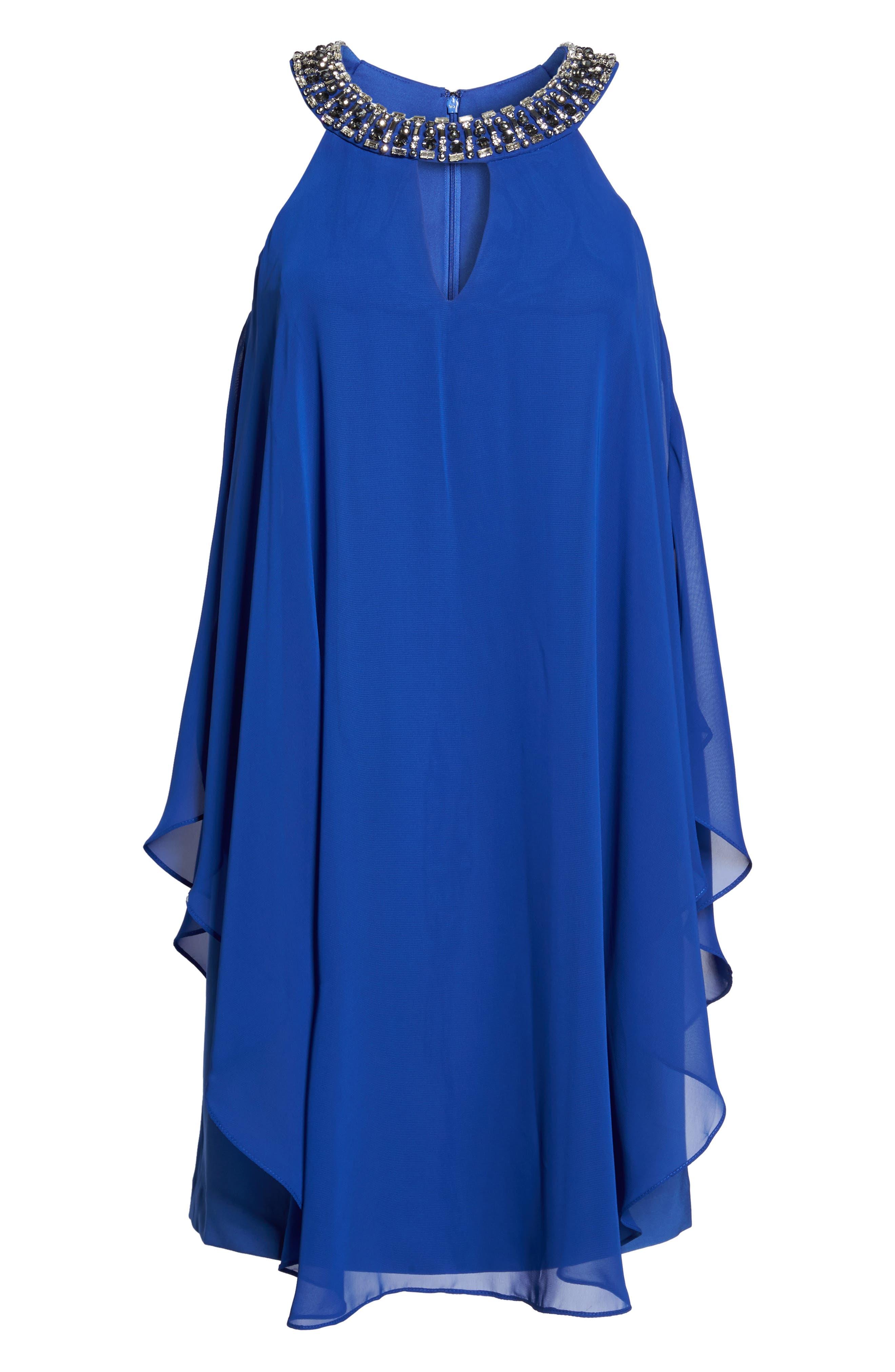 Embellished Trapeze Dress,                             Alternate thumbnail 6, color,                             430