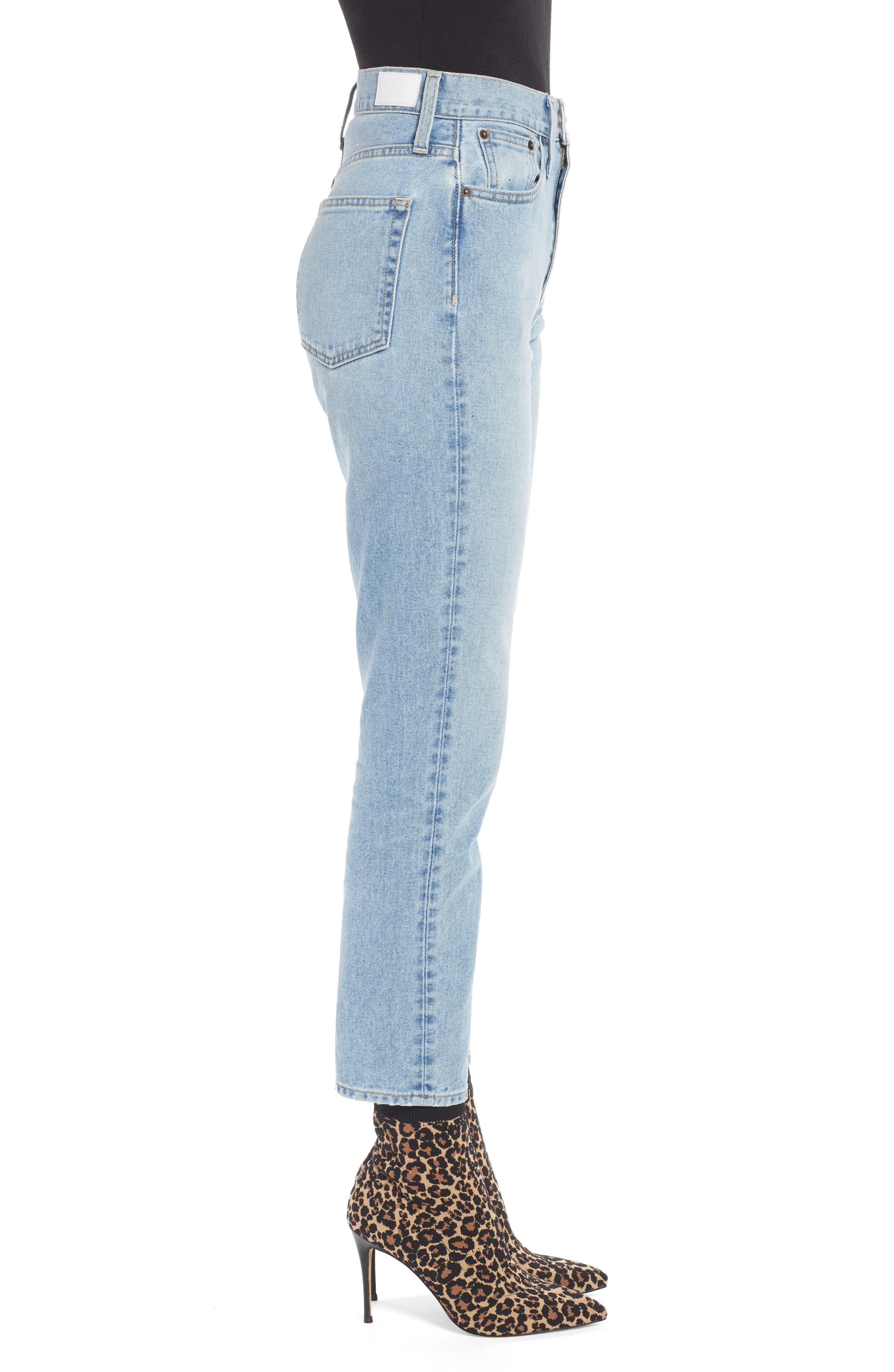 Ankle Cigarette Jeans,                             Alternate thumbnail 4, color,                             400