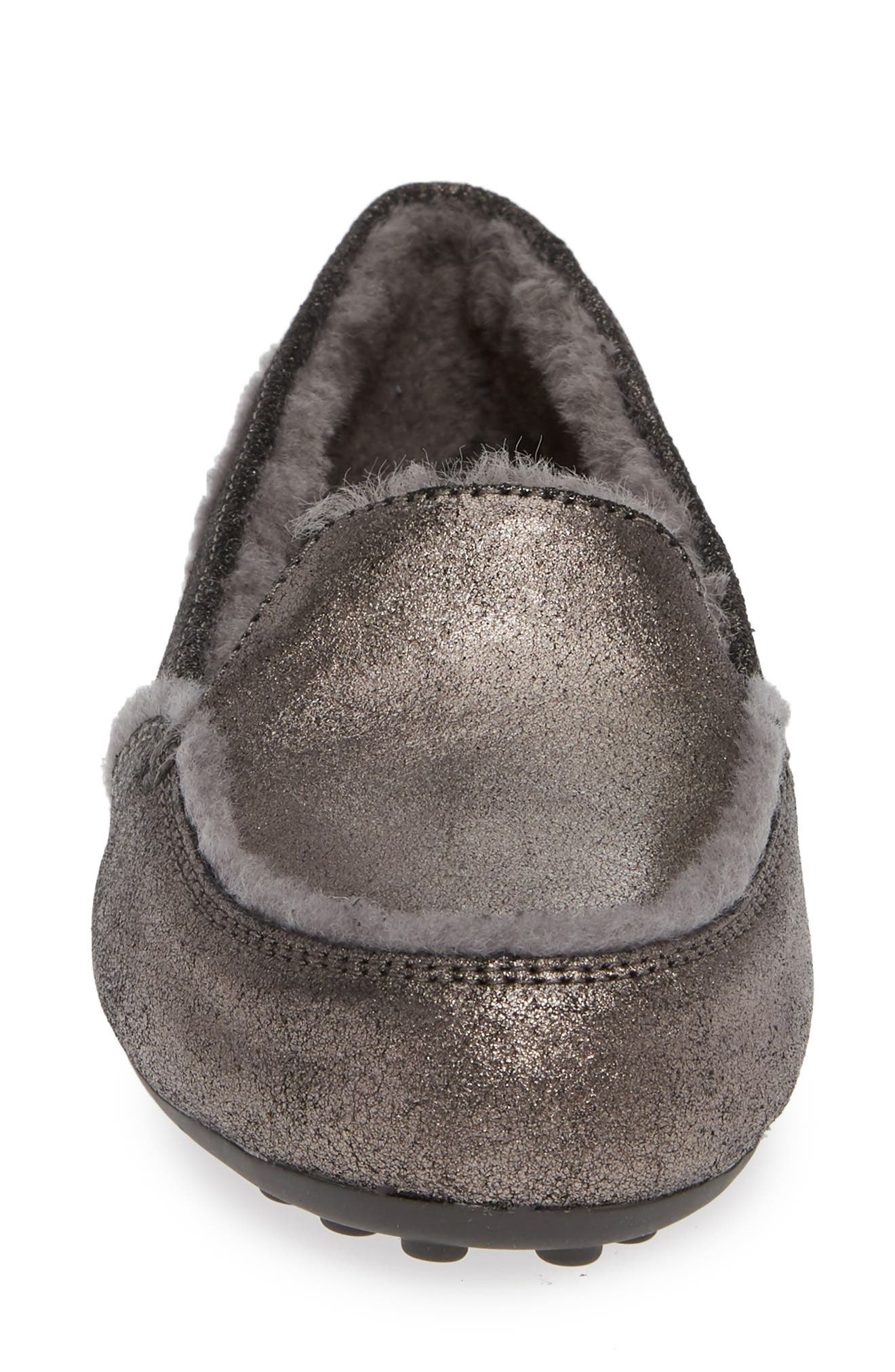 Hailey Metallic Slipper,                             Alternate thumbnail 4, color,                             GUNMETAL