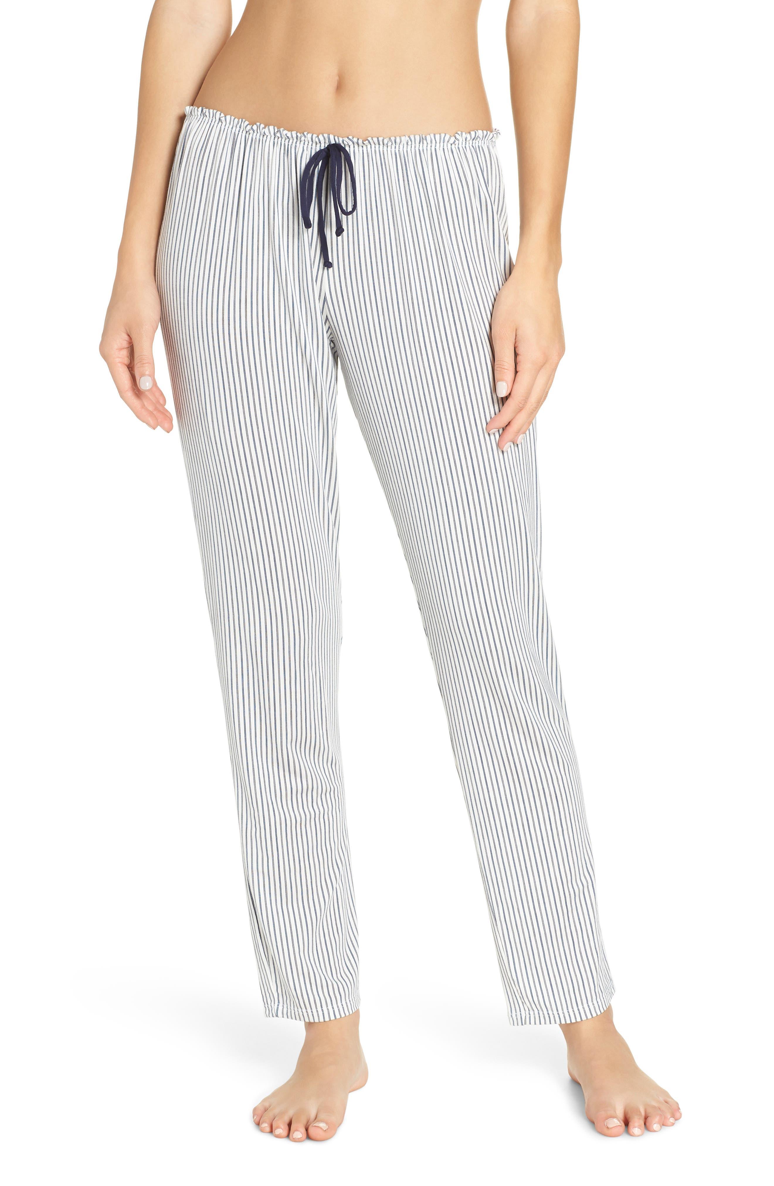 Eberjey Nordic Stripe Pajama Pants, Blue