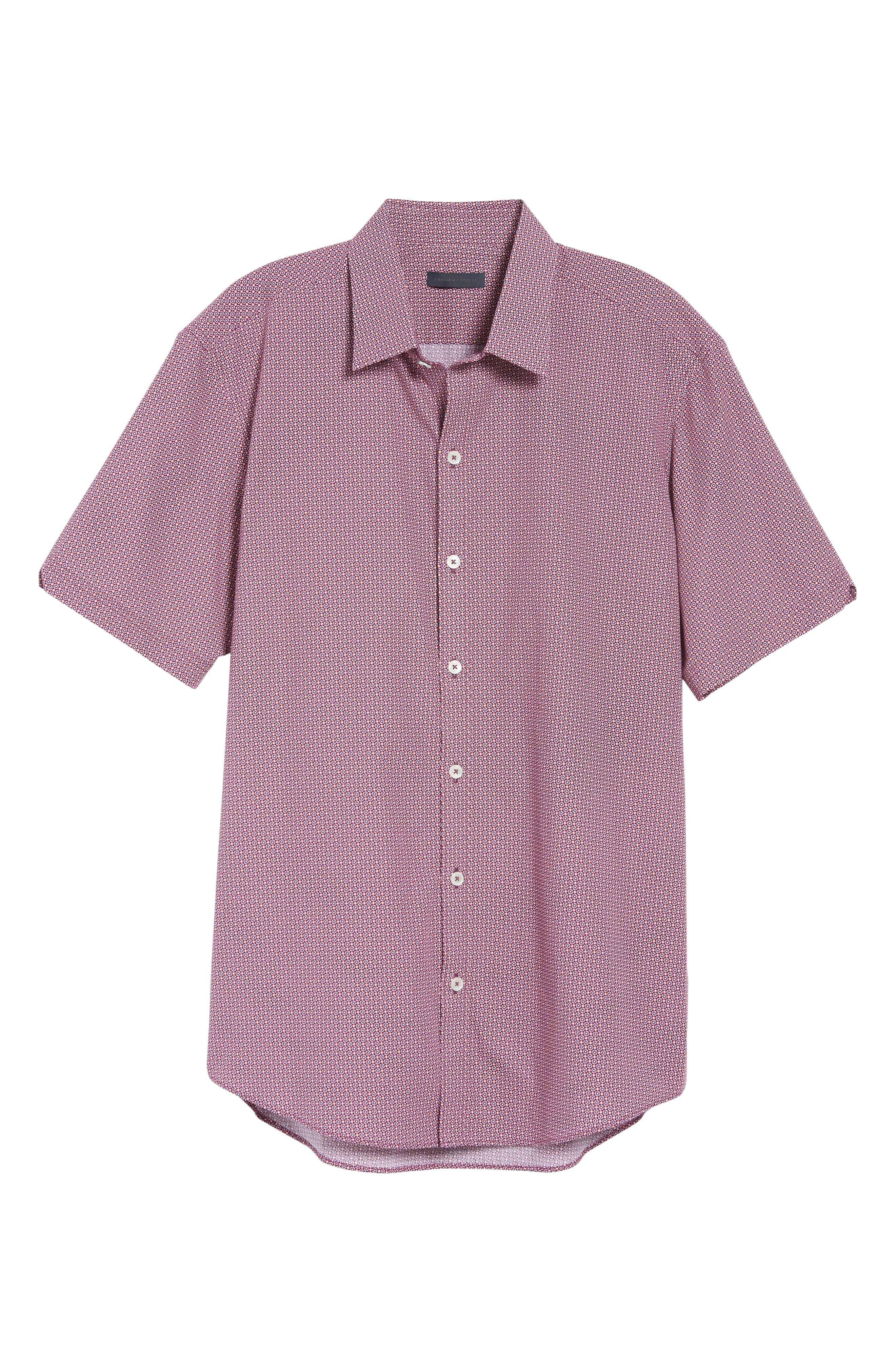 Riddle Slim Fit Print Sport Shirt,                             Alternate thumbnail 6, color,