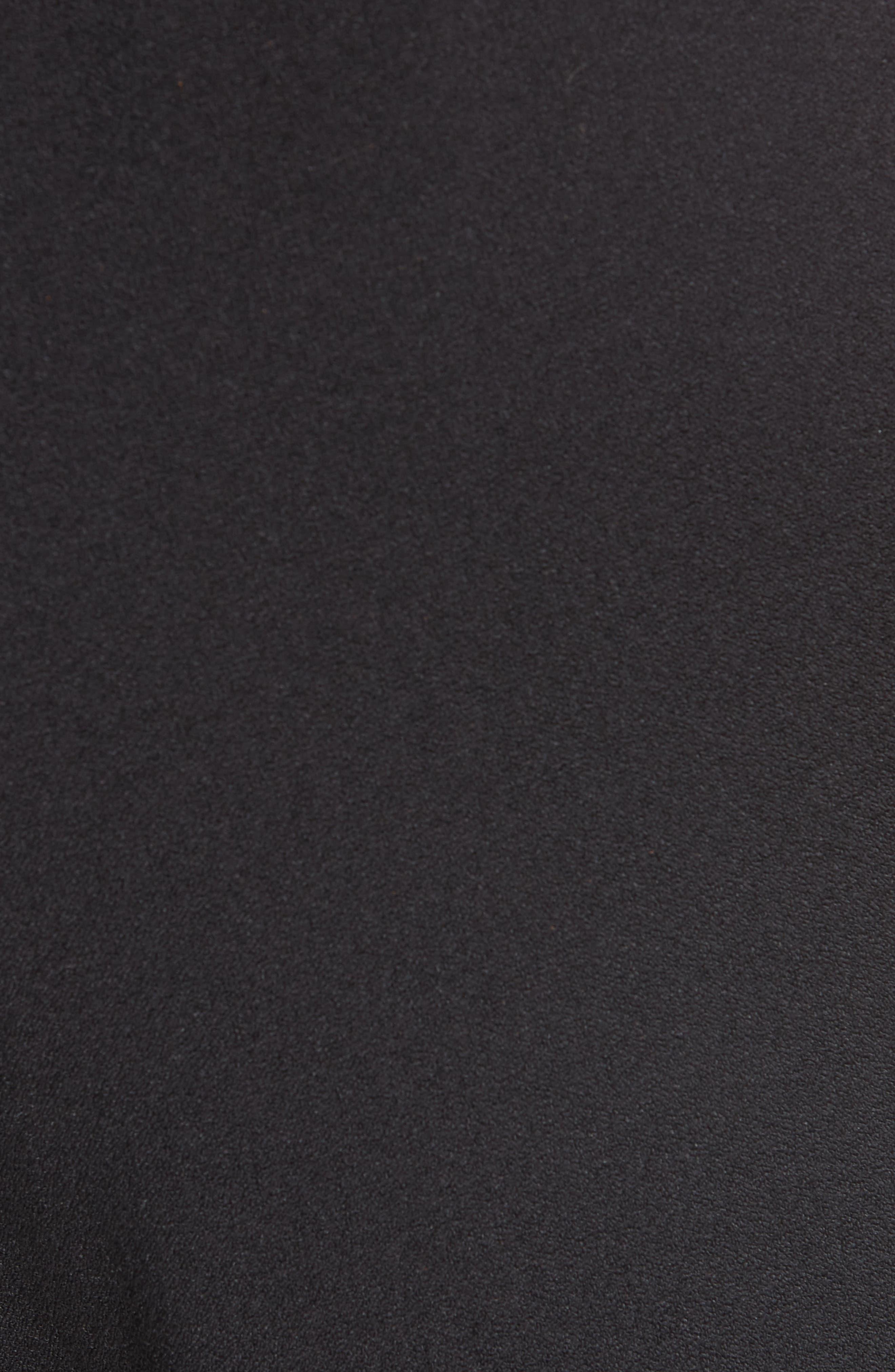 Crepe Pants,                             Alternate thumbnail 5, color,                             BLACK 099