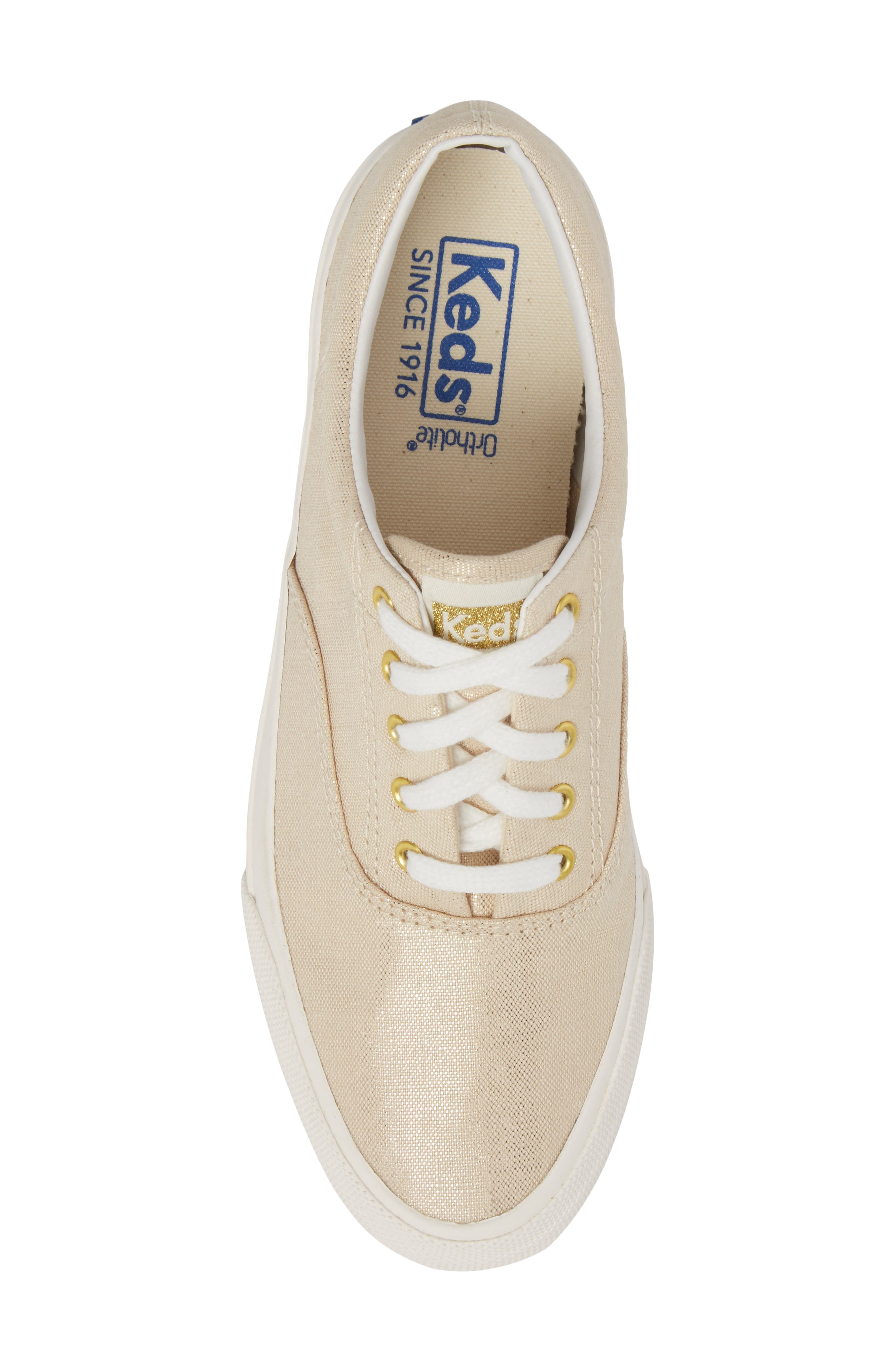 Anchor Metallic Linen Sneaker,                             Alternate thumbnail 5, color,                             710