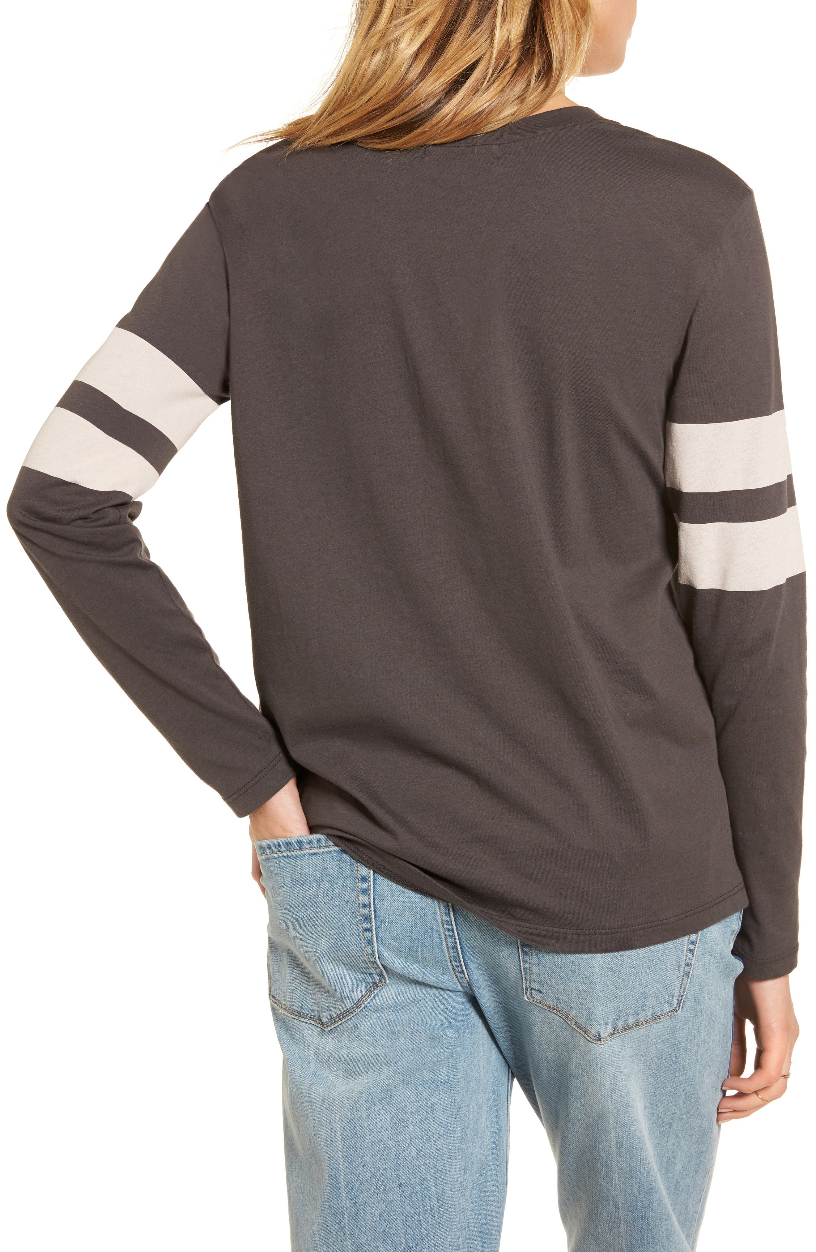 Varsity Stripe Cotton Tee,                             Alternate thumbnail 23, color,