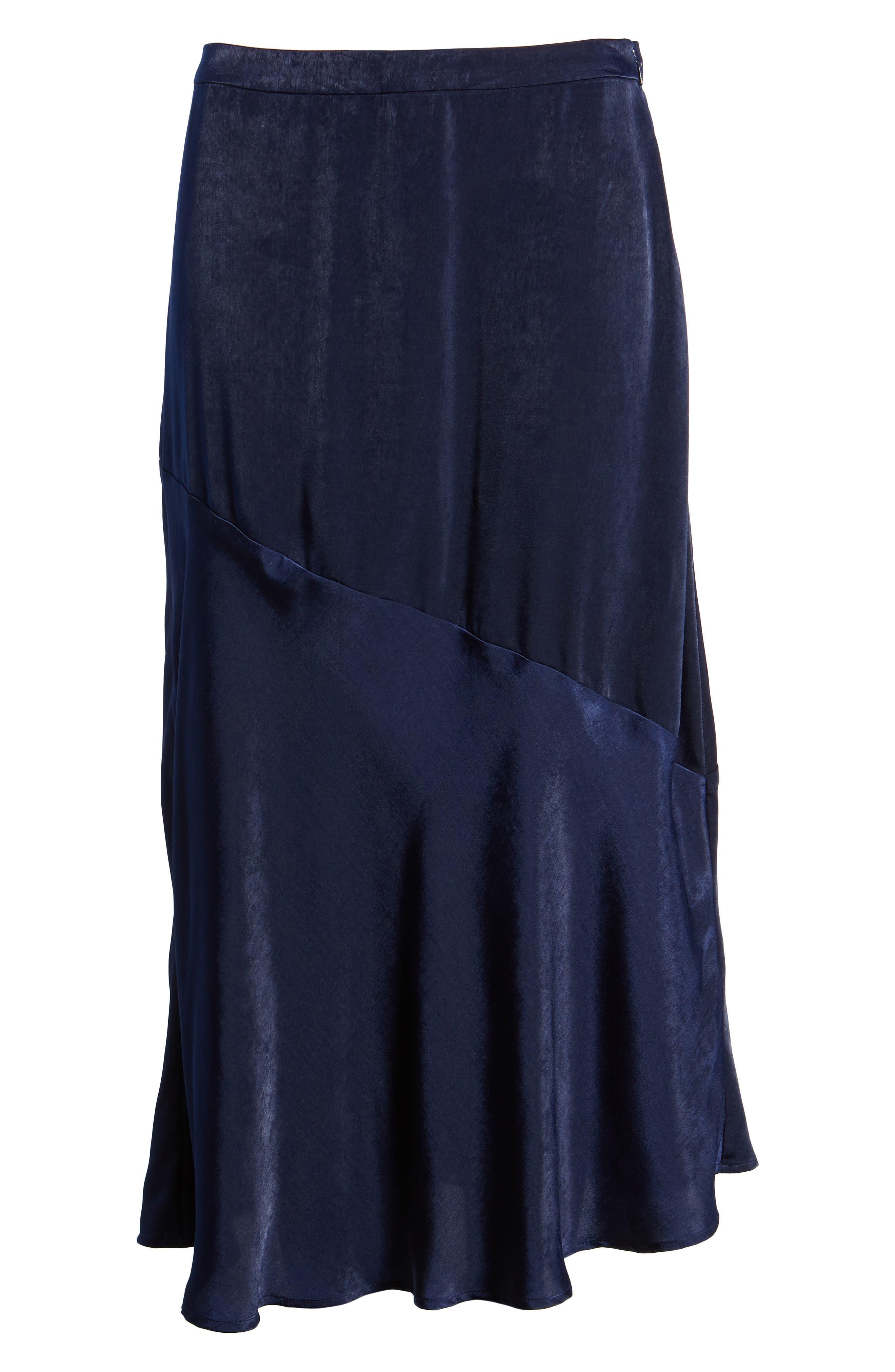 BP Satin Midi Skirt,                             Alternate thumbnail 6, color,                             410
