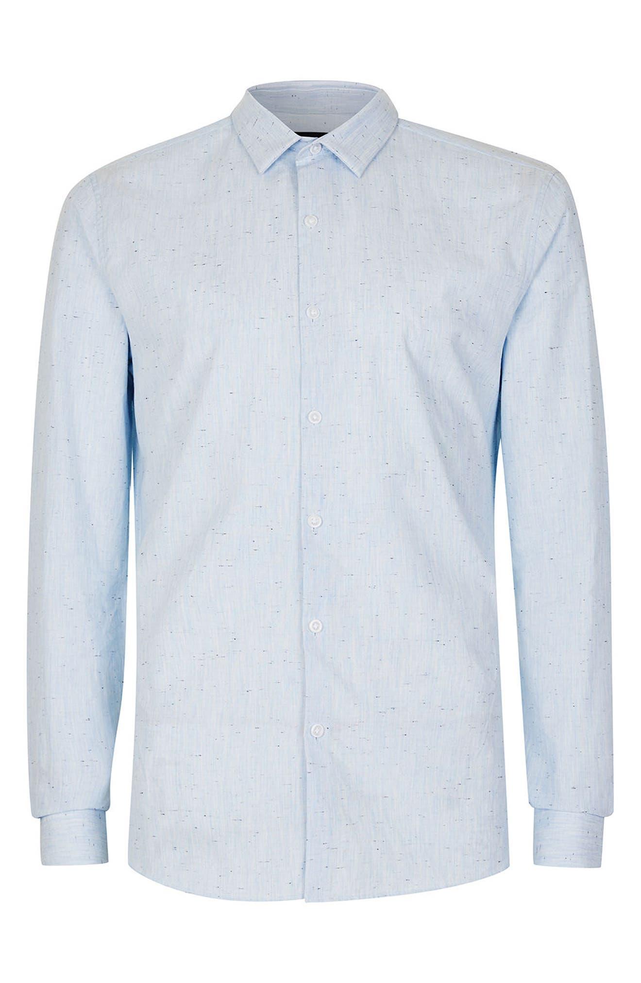 Slim Fit Nep Shirt,                             Alternate thumbnail 4, color,                             400