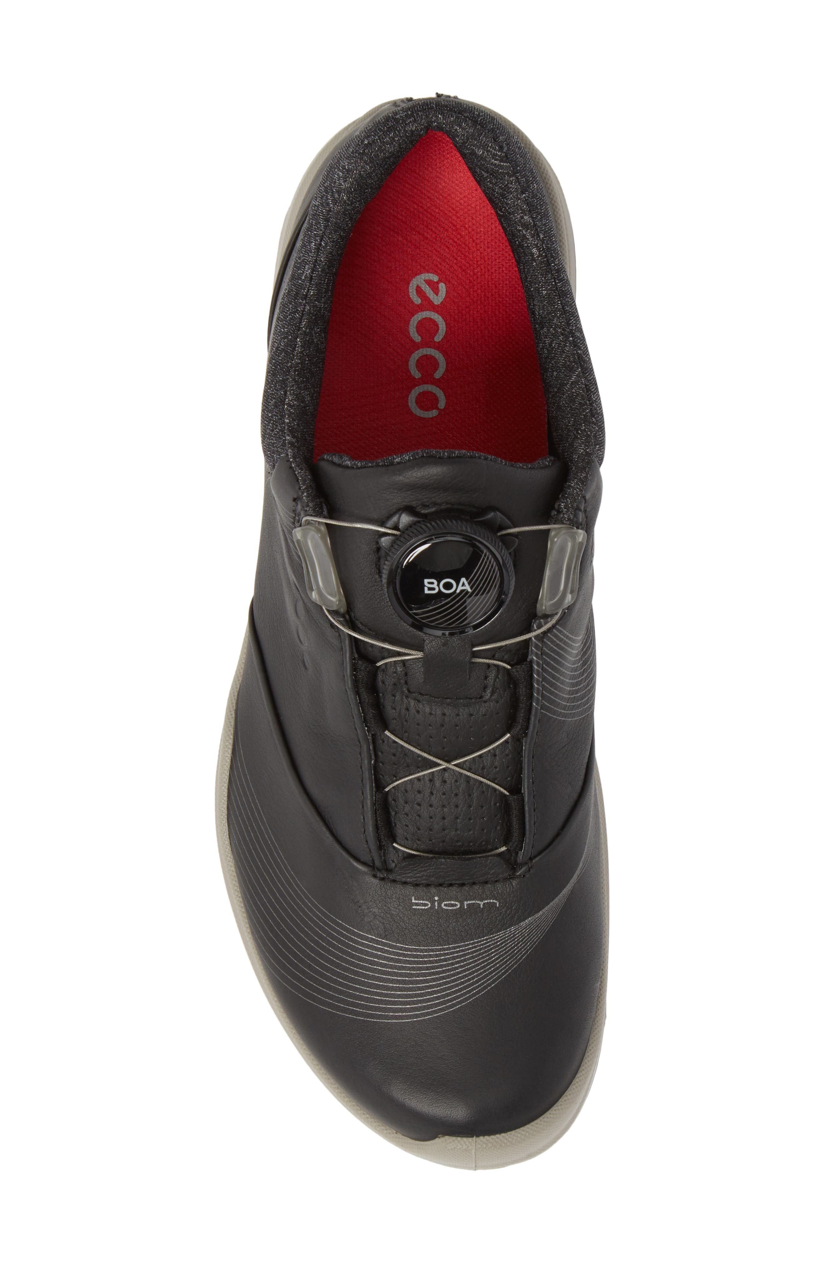 BIOM 2 Hybrid Gore-Tex<sup>®</sup> Golf Shoe,                             Alternate thumbnail 5, color,                             BLACK LEATHER