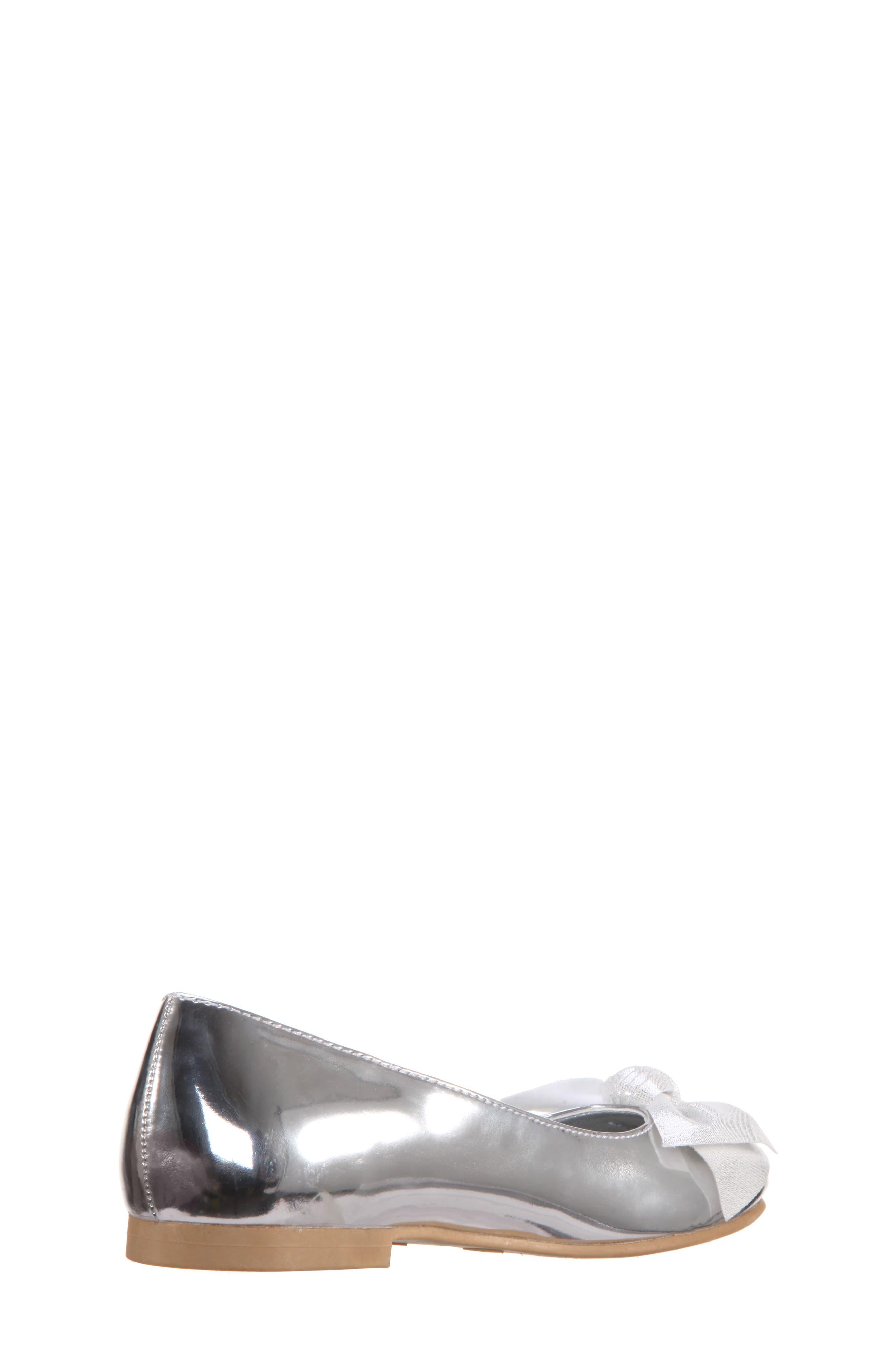 Katelyn Glitter Bow Metallic Ballet Flat,                             Alternate thumbnail 2, color,                             048
