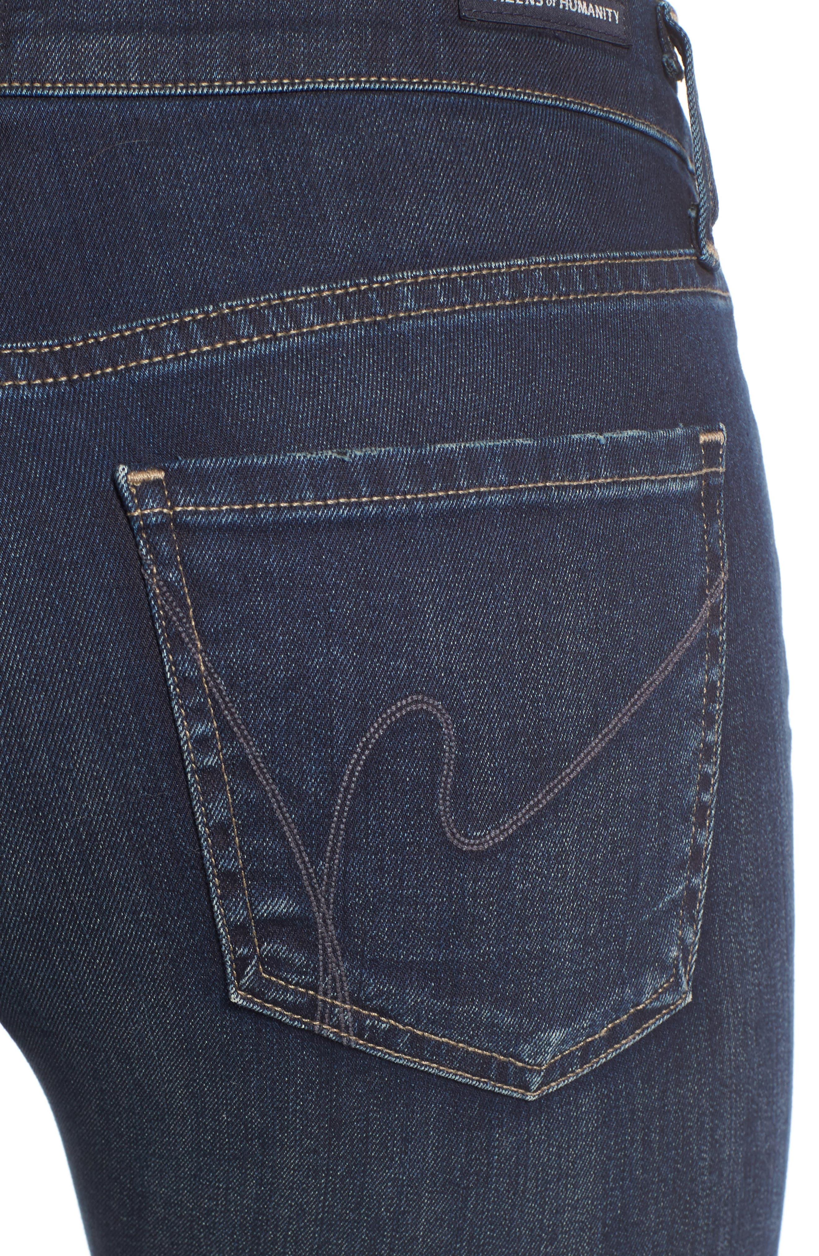 Emmanuelle Slim Bootcut Jeans,                             Alternate thumbnail 4, color,                             405