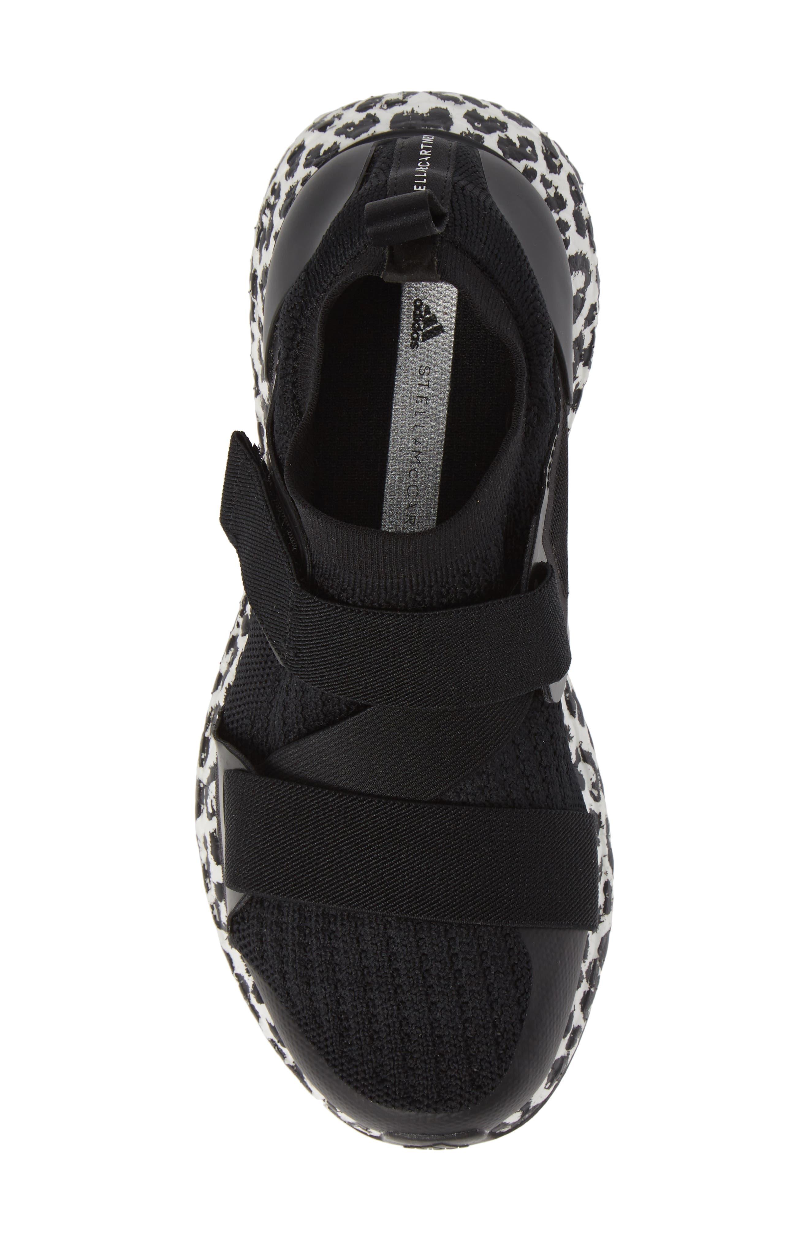 UltraBoost X Running Shoe,                             Alternate thumbnail 5, color,                             BLACK/ BLACK/ WHITE