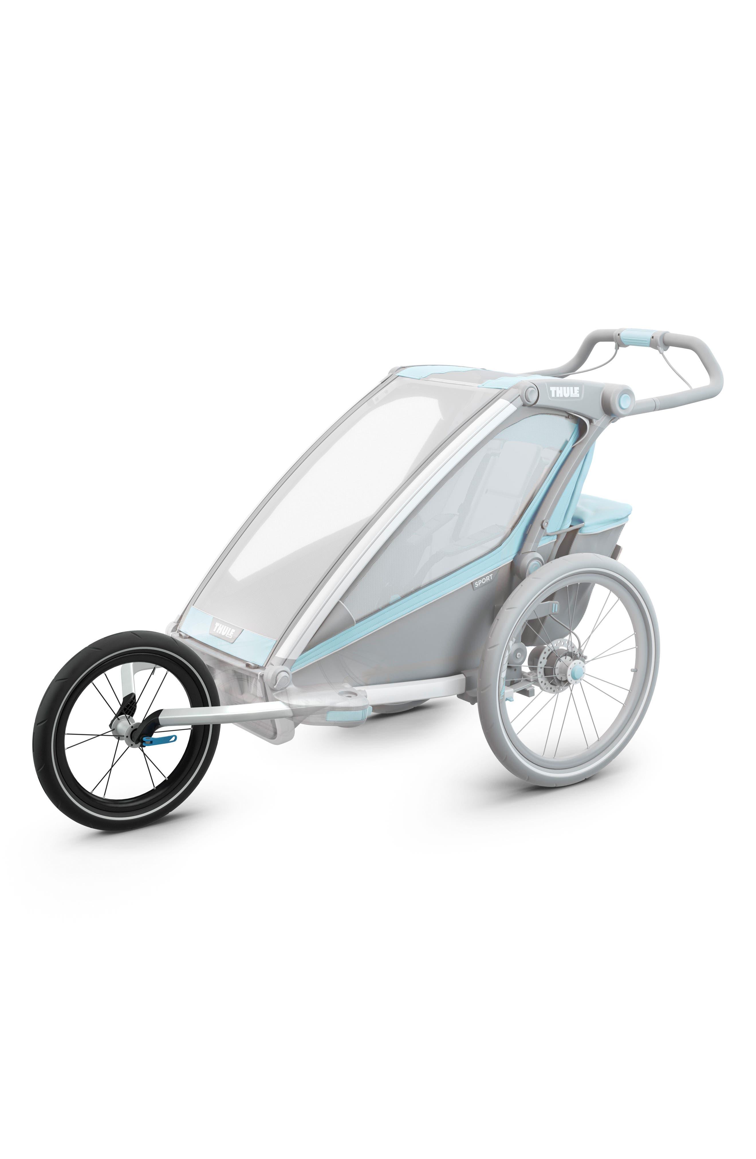 Jogger Conversion Kit for Thule Chariot Single Stroller,                             Main thumbnail 1, color,                             BLACK