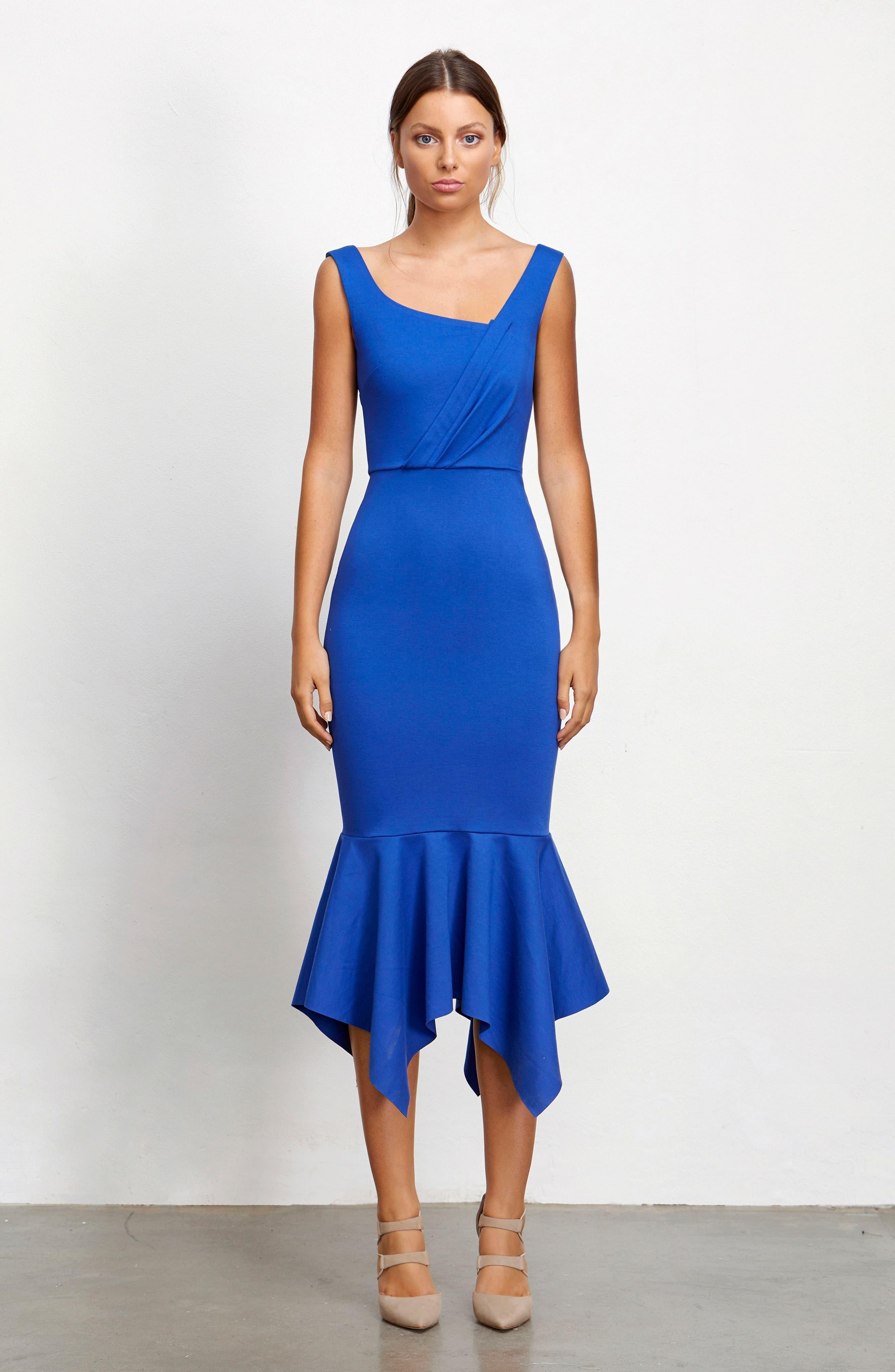 Viola Asymmetrical Dress,                             Alternate thumbnail 8, color,                             460
