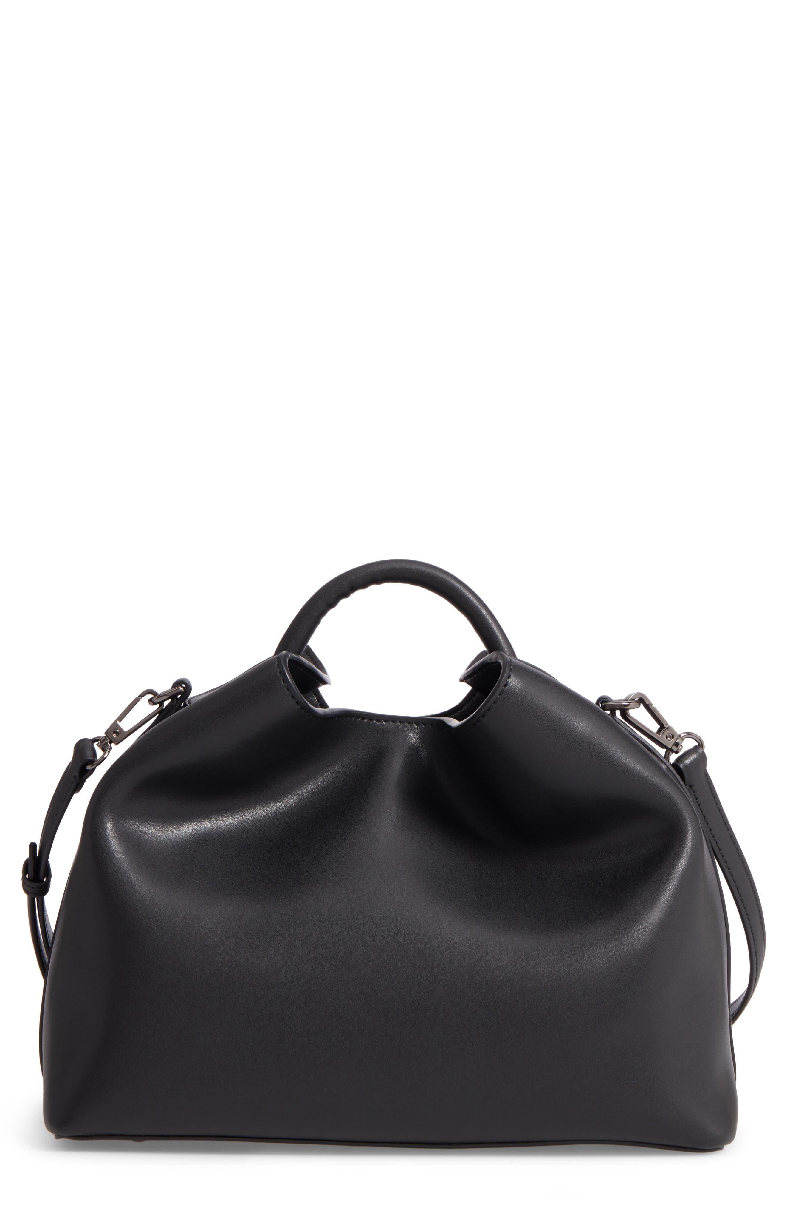 Raisin Leather Handbag,                         Main,                         color, 001