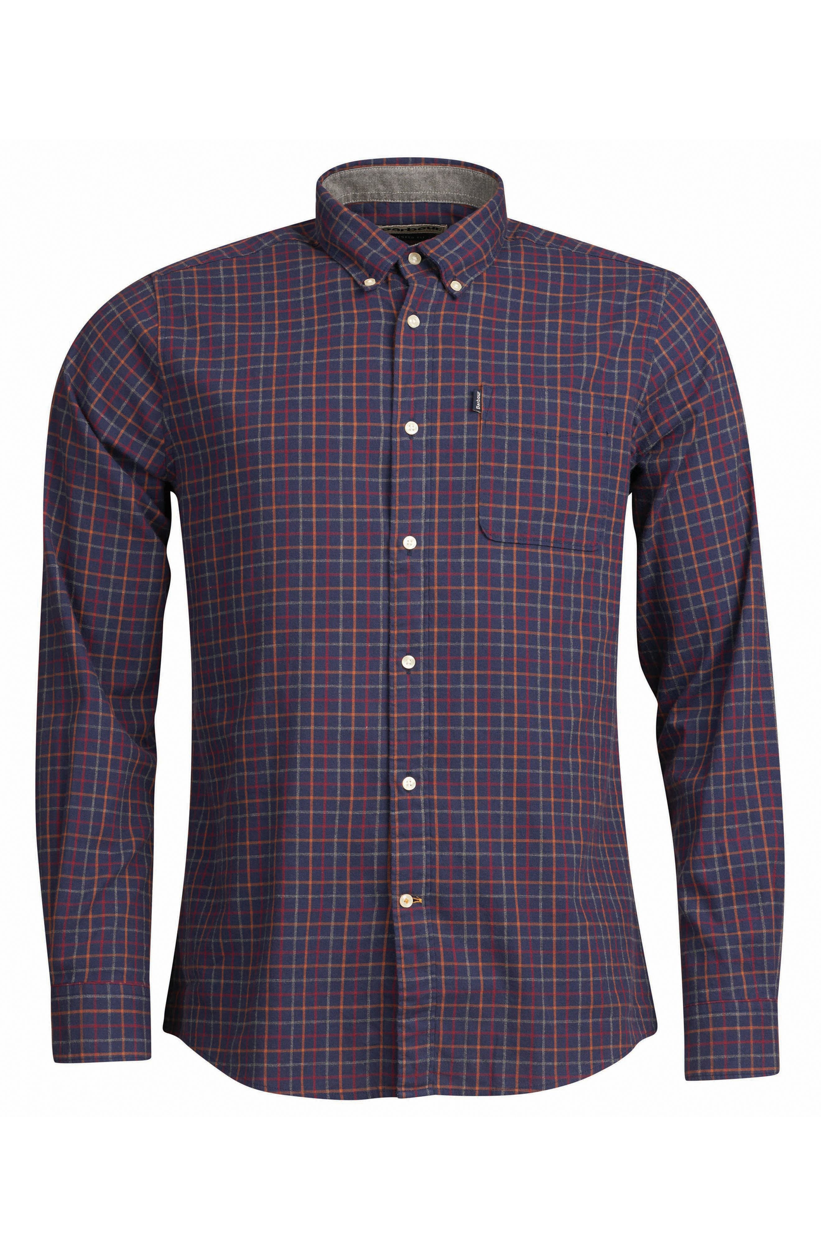 Endsleigh Tattersall Cotton Flannel Shirt,                             Alternate thumbnail 5, color,                             410