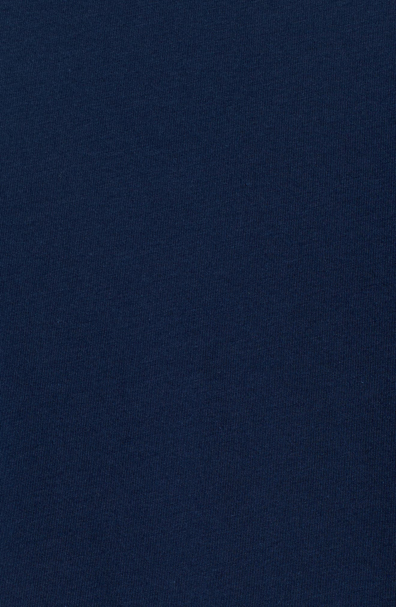 HeatGear<sup>®</sup> Long Sleeve Performance T-Shirt,                             Alternate thumbnail 5, color,                             ACADEMY/ ROYAL
