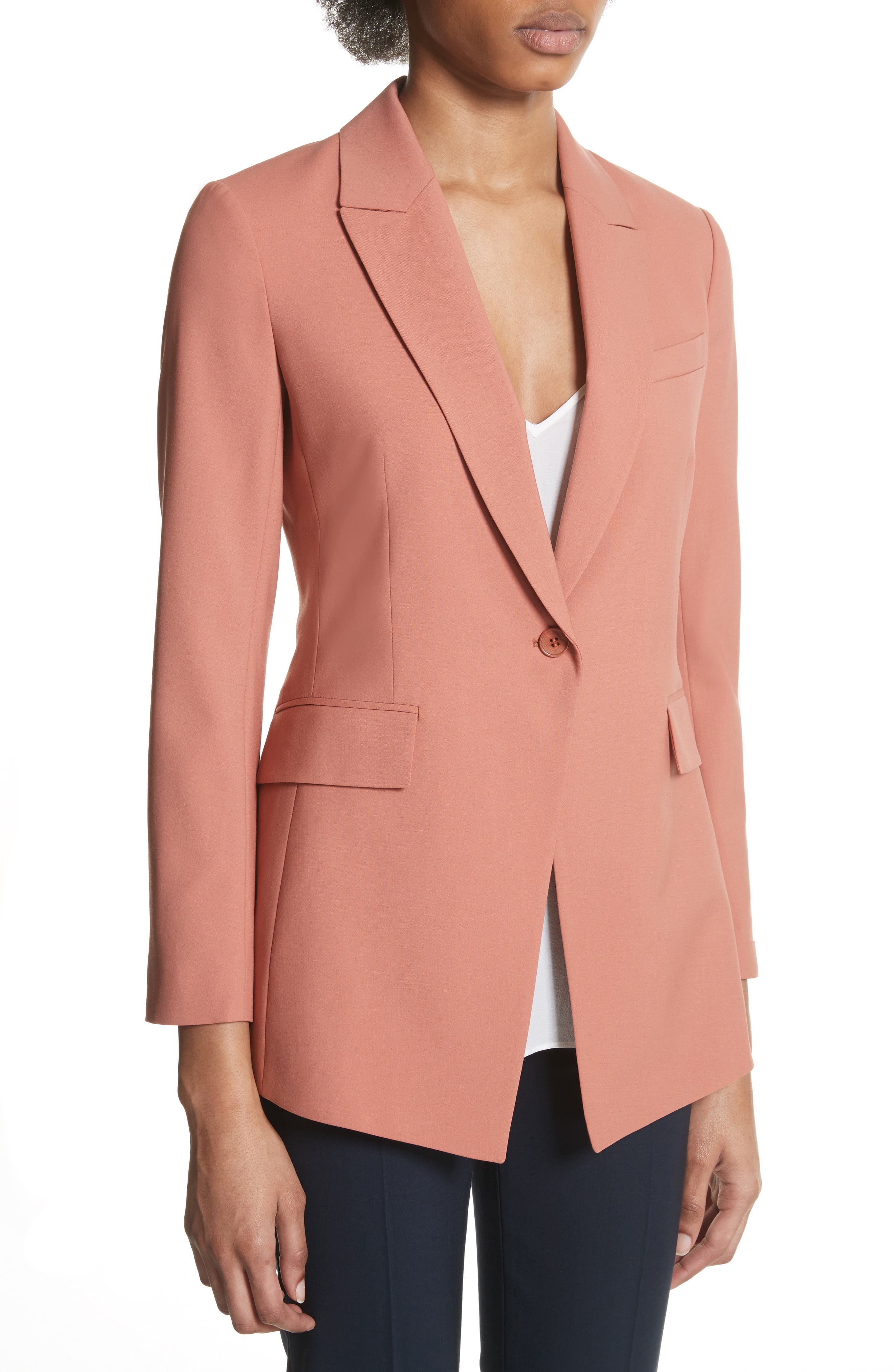 Etienette B Good Wool Suit Jacket,                             Alternate thumbnail 28, color,