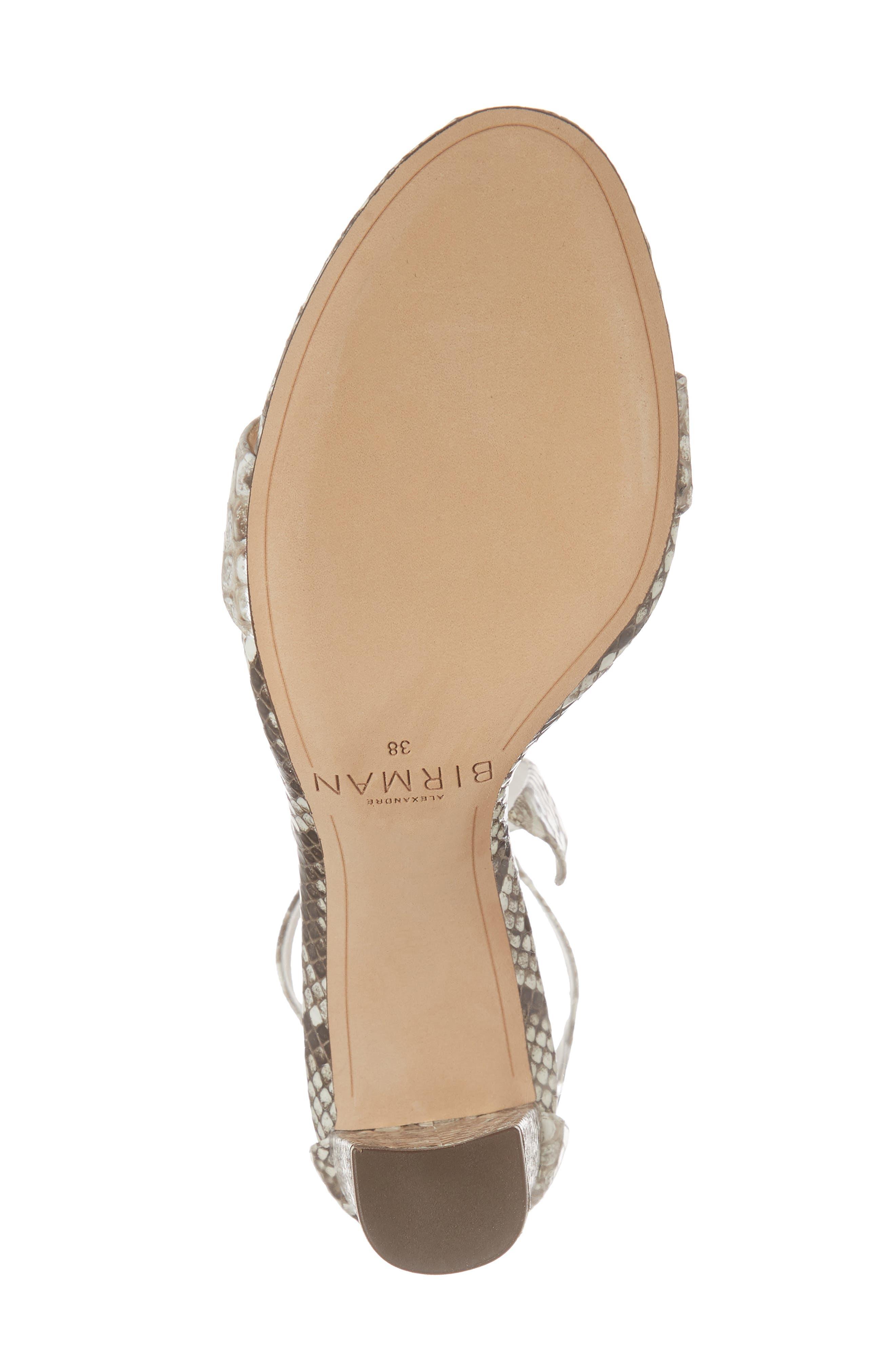 Clarita Genuine Python Ankle Tie Sandal,                             Alternate thumbnail 6, color,                             250