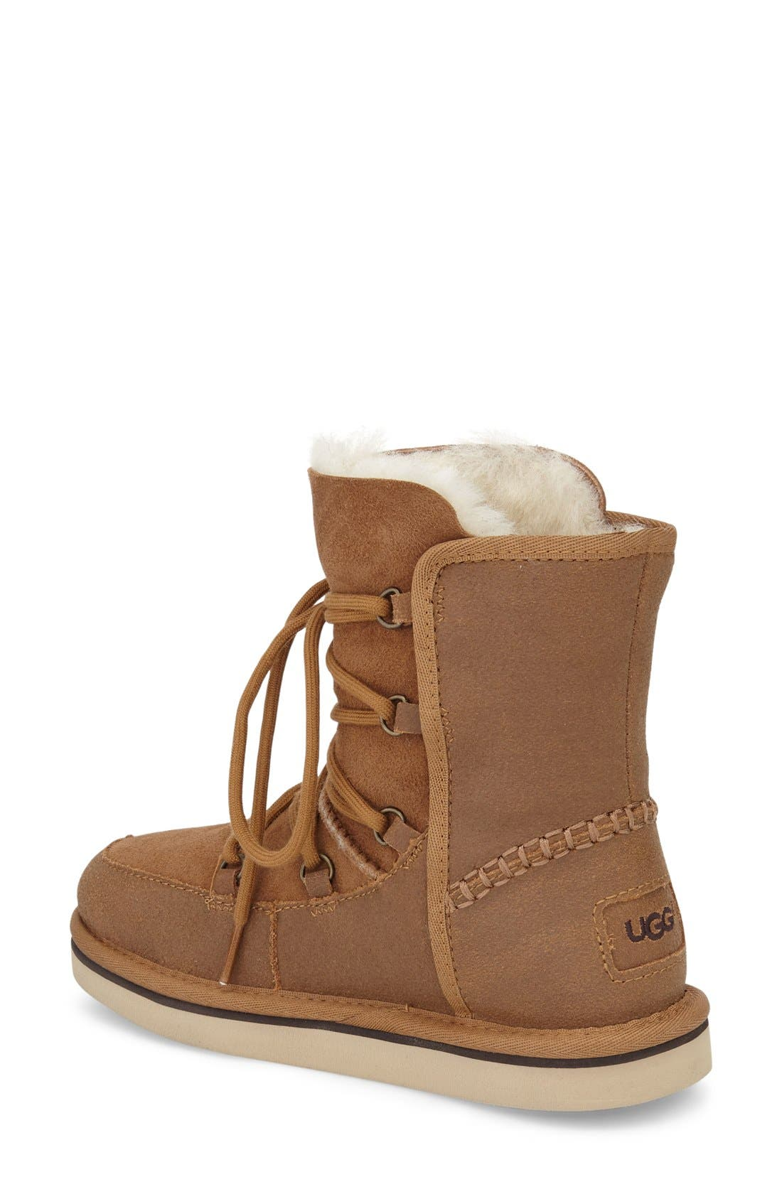 Eliss Water Resistant Suede Boot,                             Alternate thumbnail 6, color,