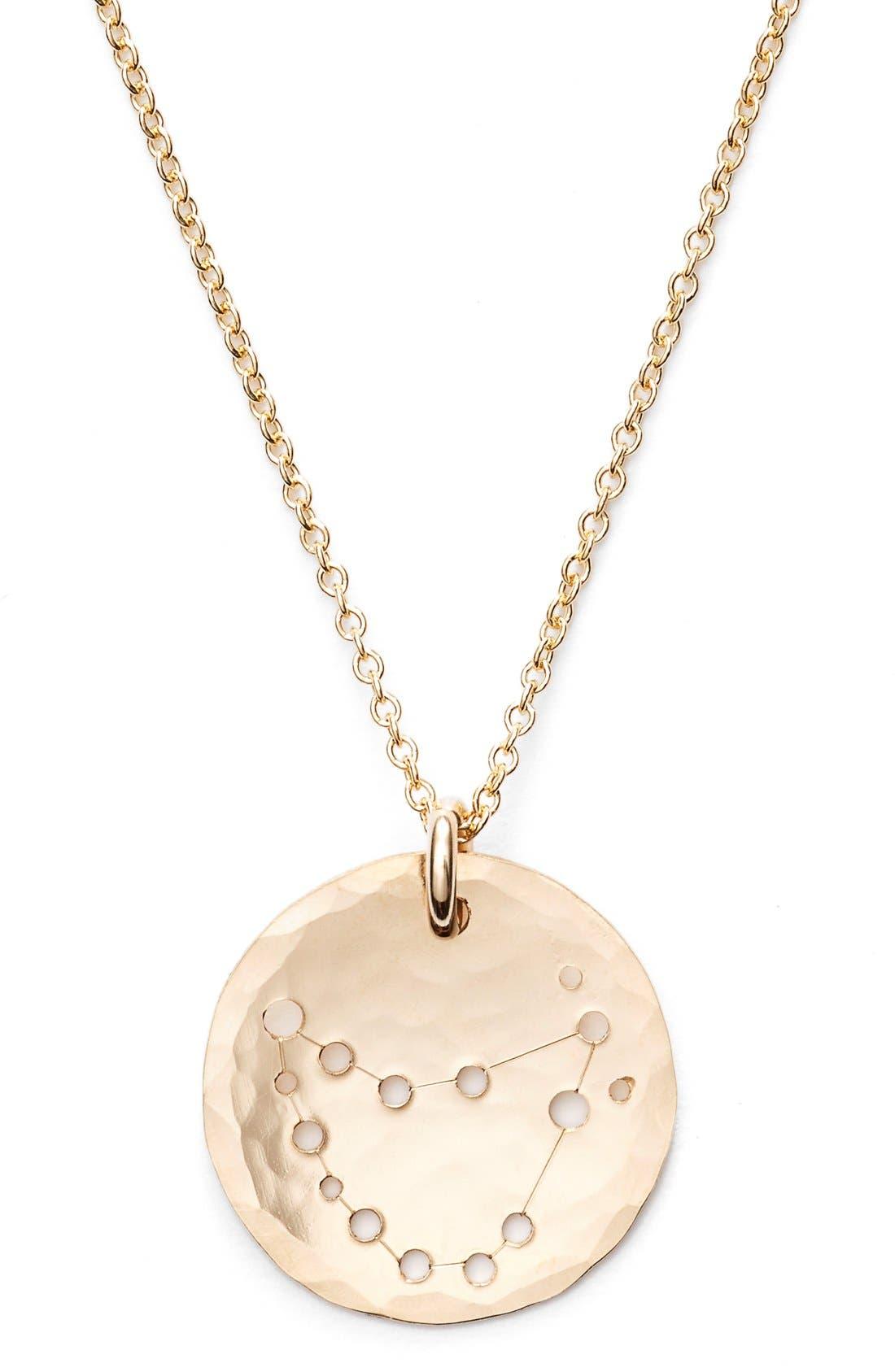 Ija 'Small Zodiac' 14k-Gold Fill Necklace,                             Alternate thumbnail 34, color,