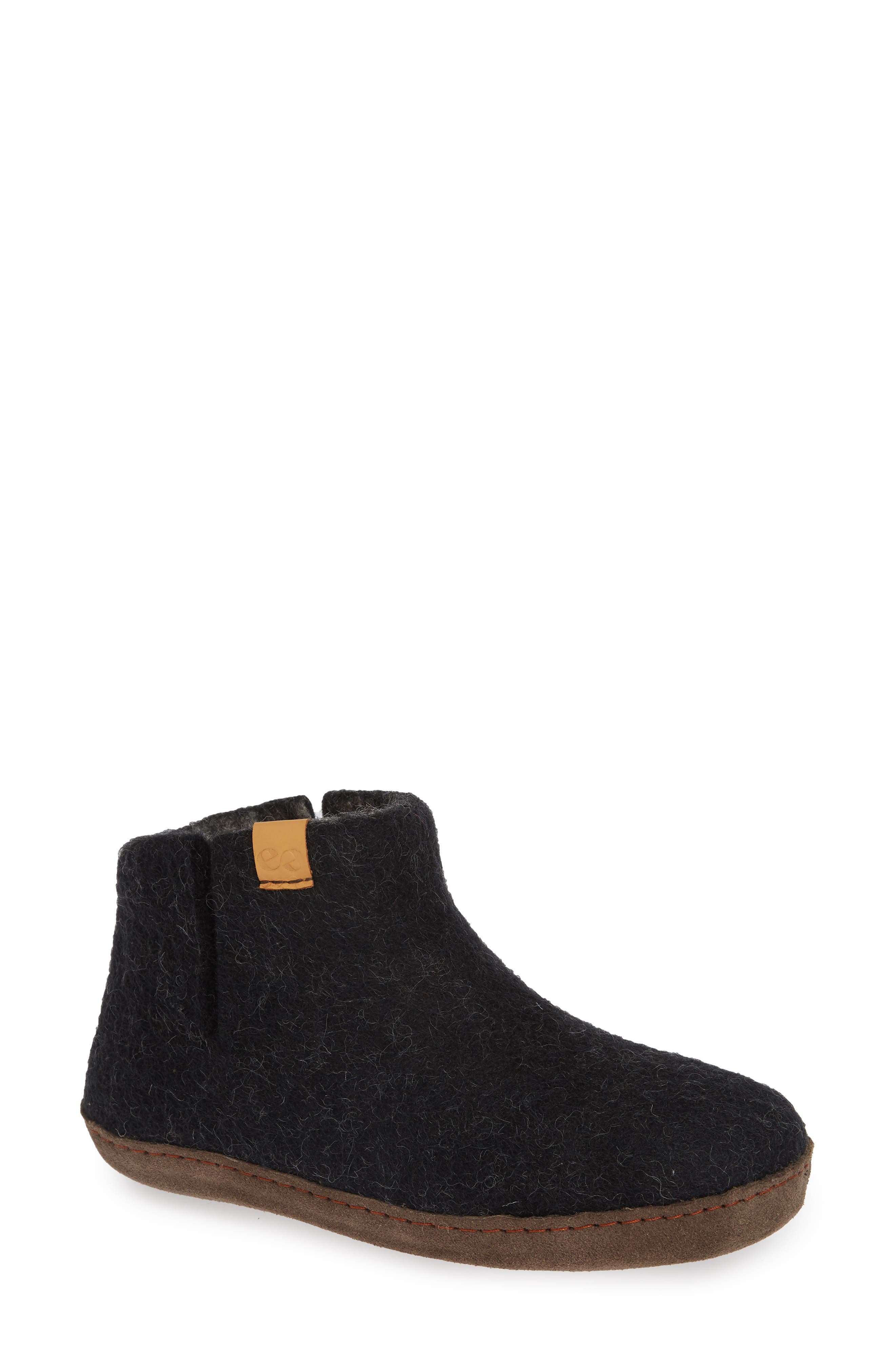 Everest Wool Slipper,                         Main,                         color, BLACK WOOL