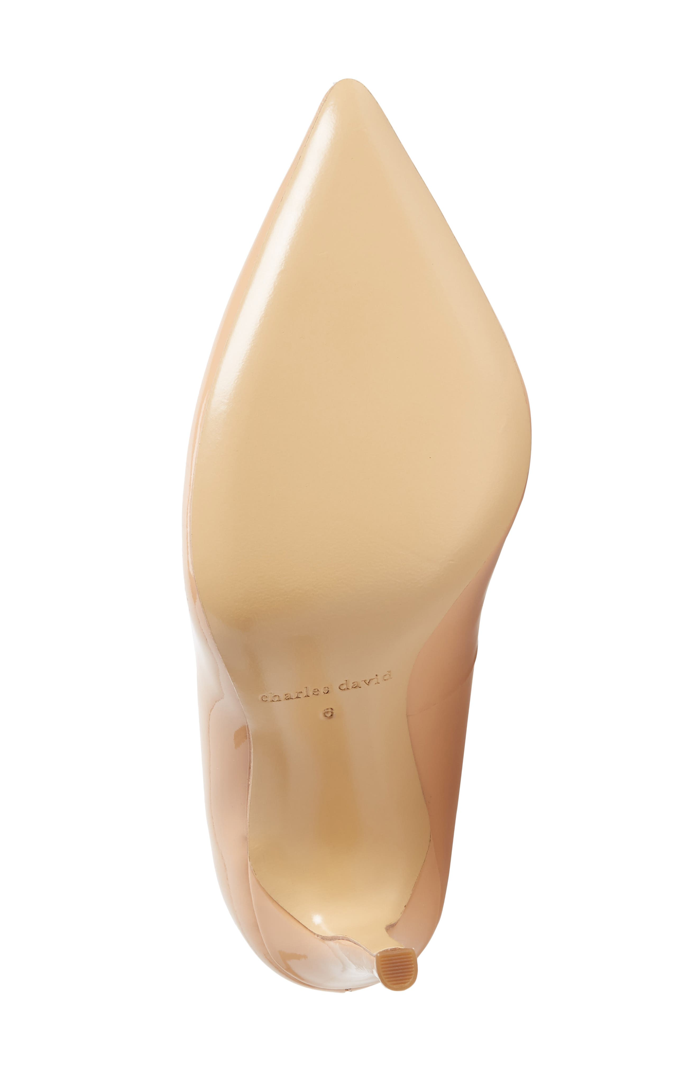 Calessi Pointy Toe Pump,                             Alternate thumbnail 6, color,                             PETAL PATENT LEATHER