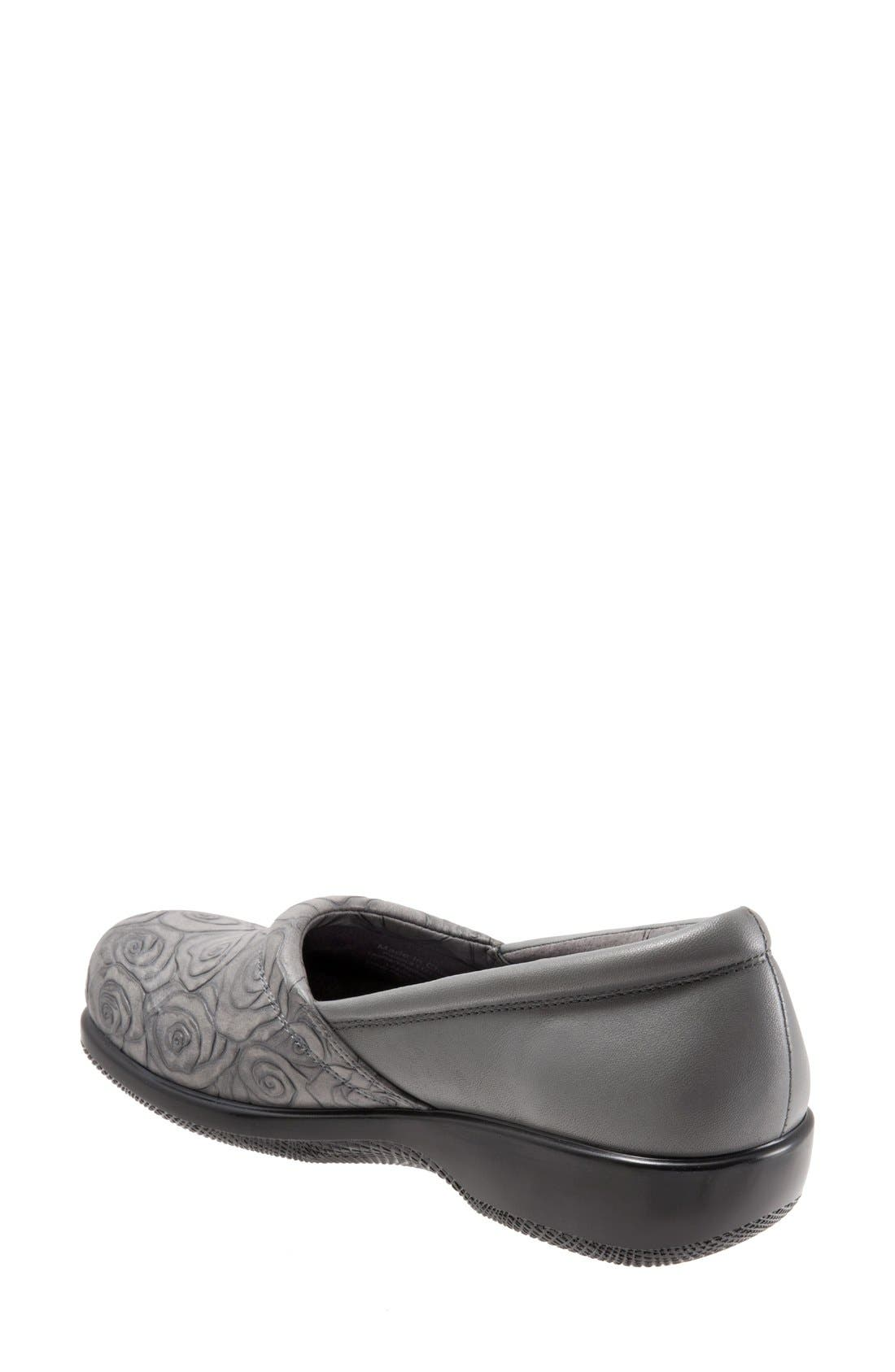 'Adora' Slip-On,                             Alternate thumbnail 2, color,                             GREY ROSE LEATHER