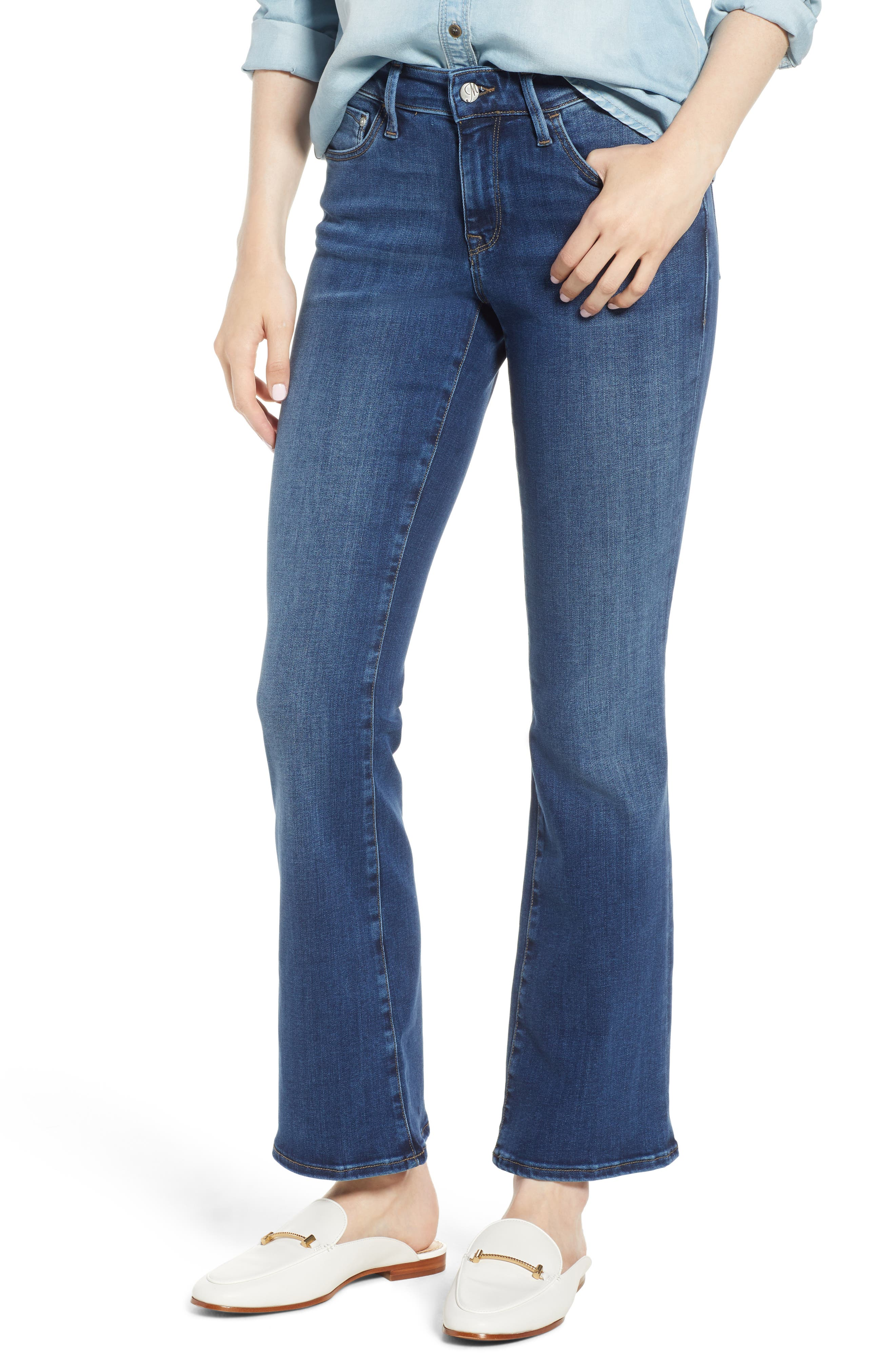 Molly Classic Bootcut Jeans, Main, color, INDIGO SUPERSOFT