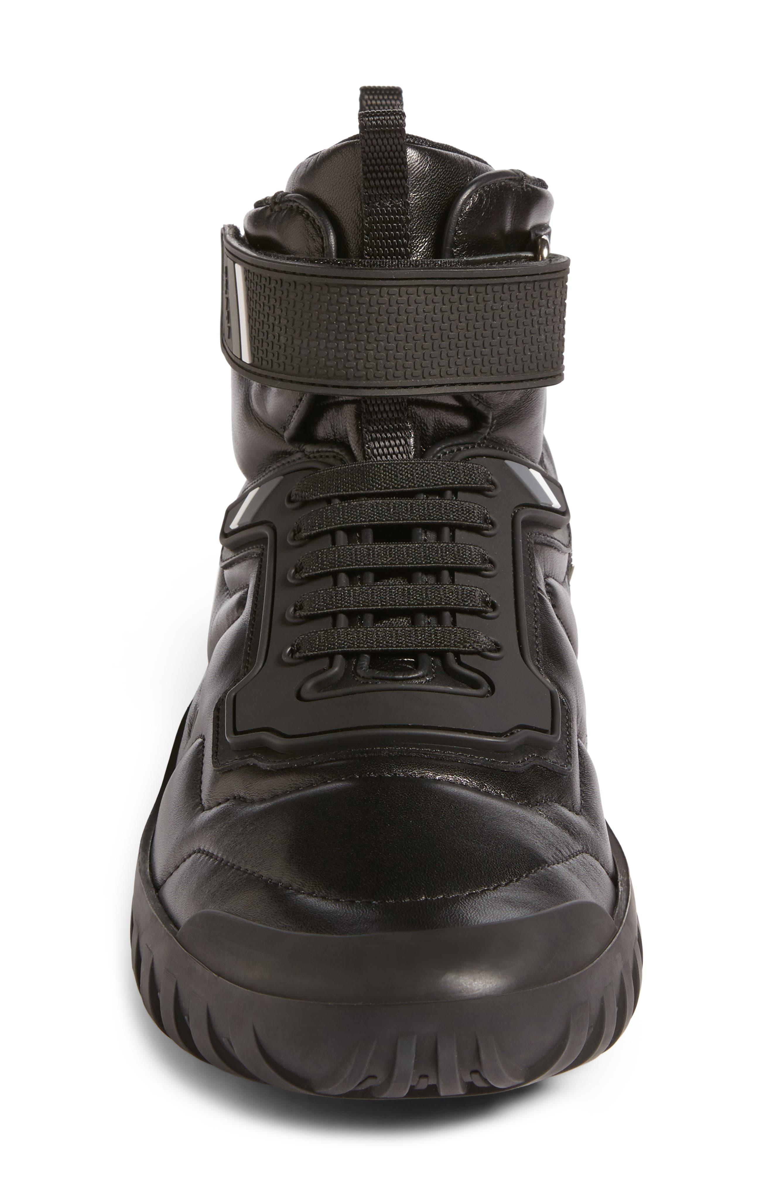 Tech Strap Sneaker,                             Alternate thumbnail 4, color,                             001