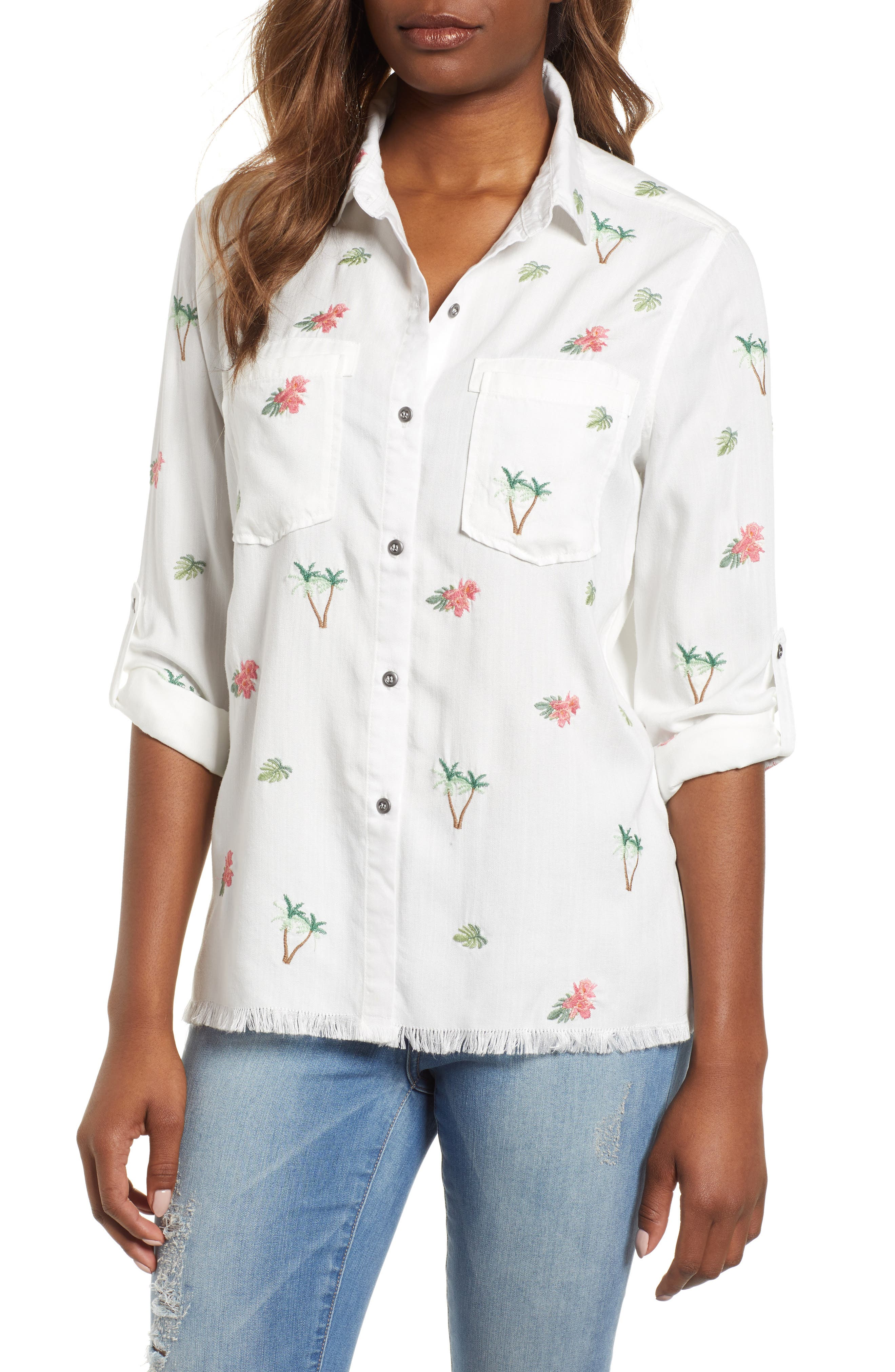 Laced Back Button Up Shirt,                         Main,                         color, 100