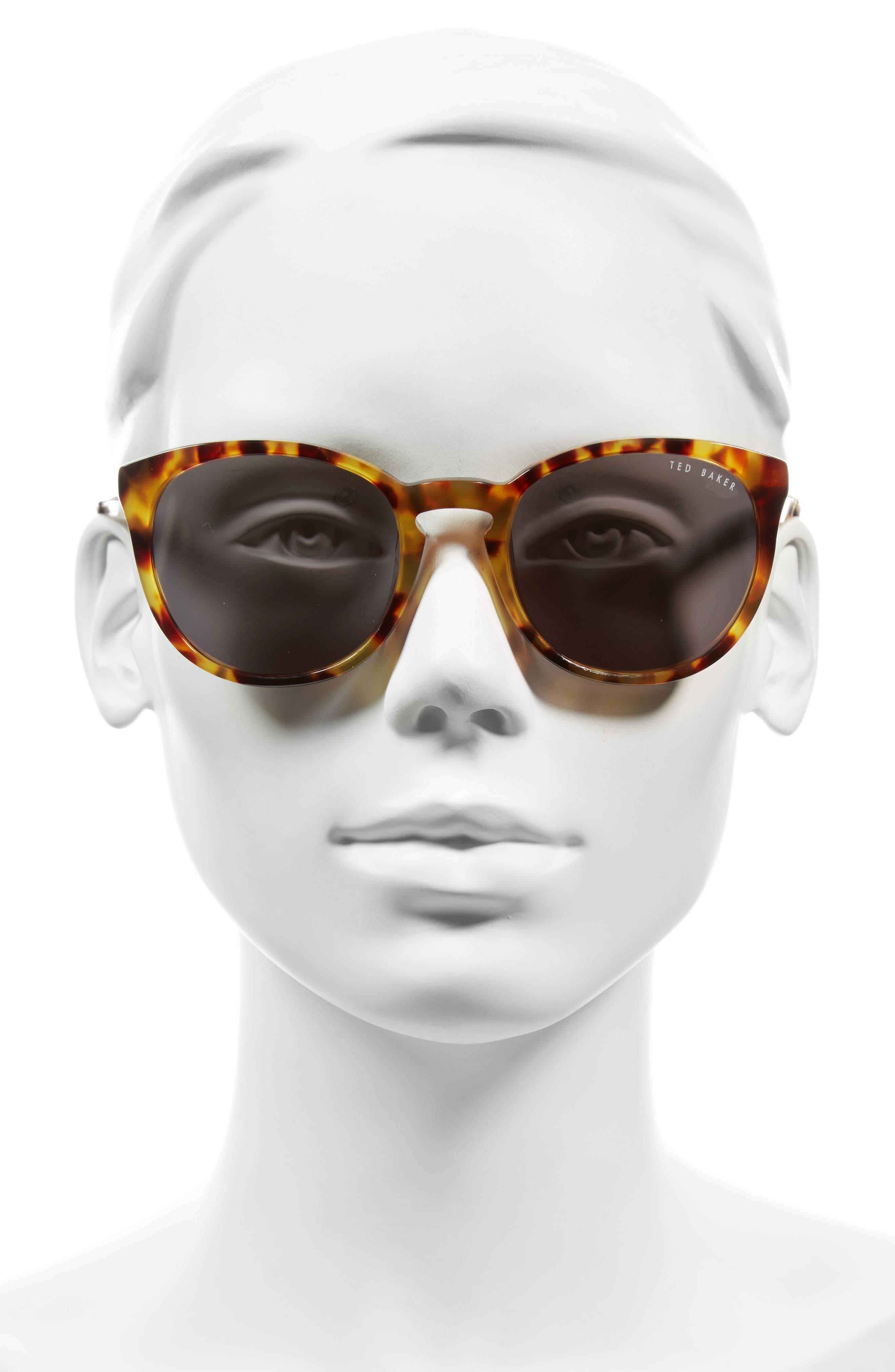 53mm Round Sunglasses,                             Alternate thumbnail 4, color,