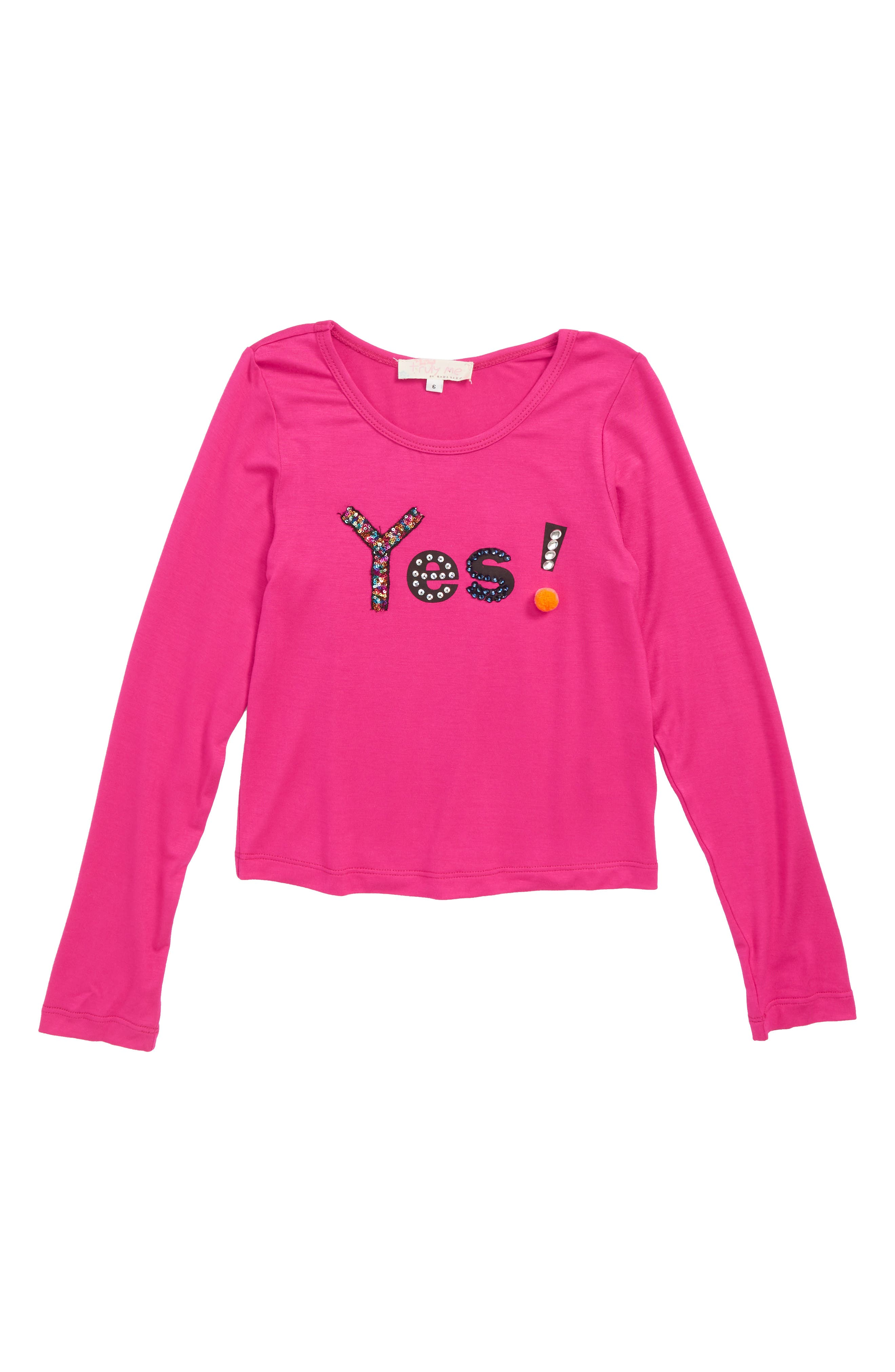 Yes Graphic Long Sleeve Tee,                         Main,                         color, 670