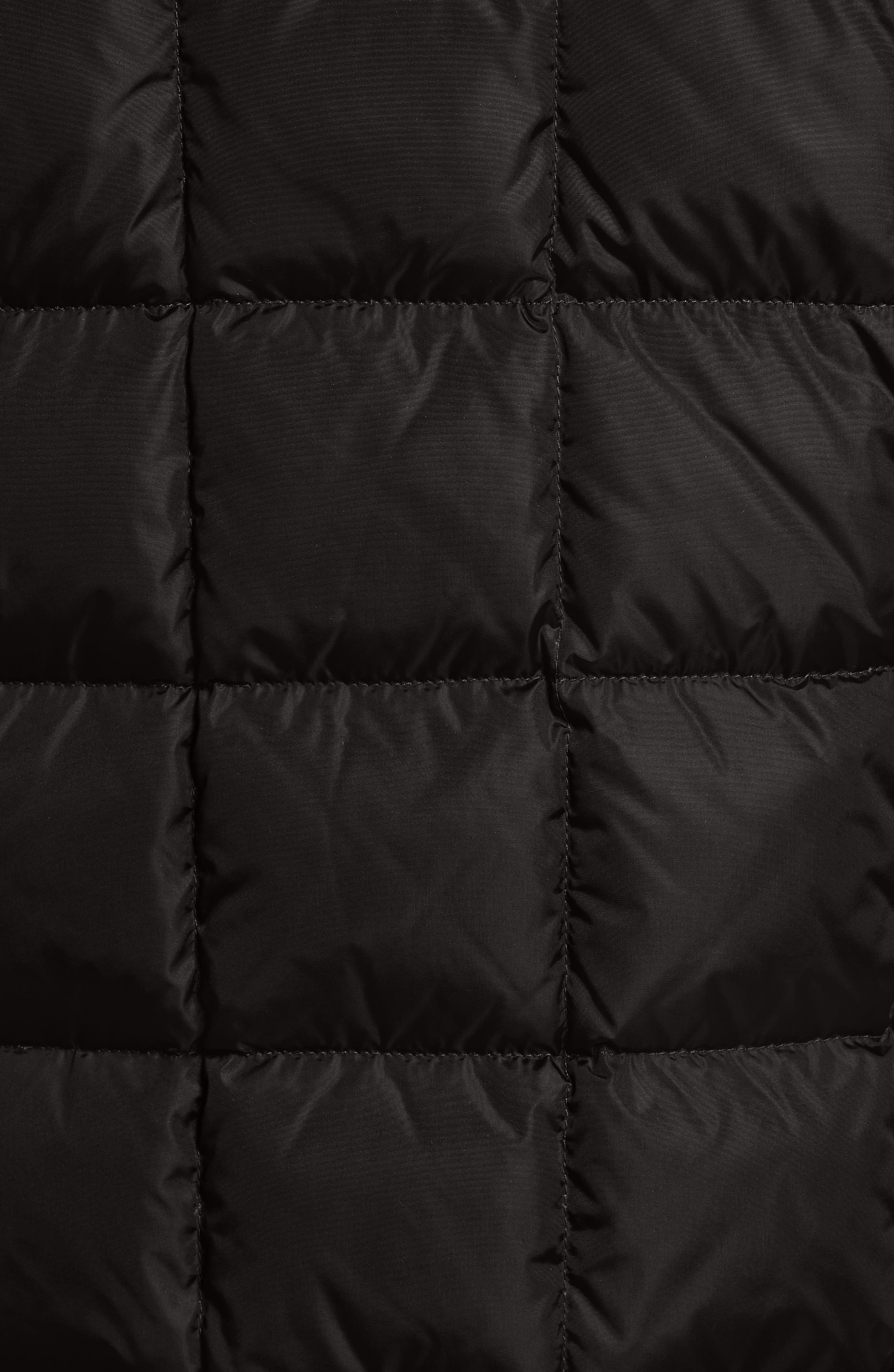 Clovis Mixed Media Quilted Down Jacket,                             Alternate thumbnail 5, color,                             001