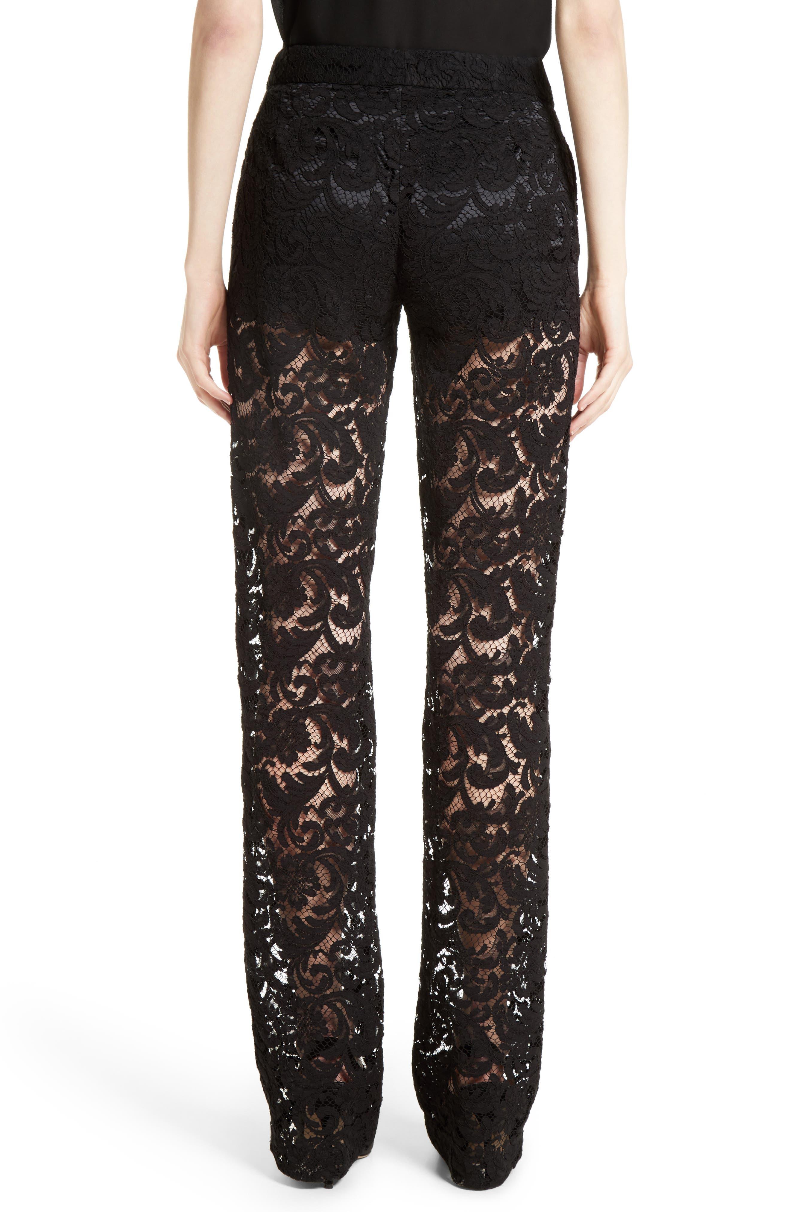 Lace Tuxedo Pants,                             Alternate thumbnail 2, color,                             001