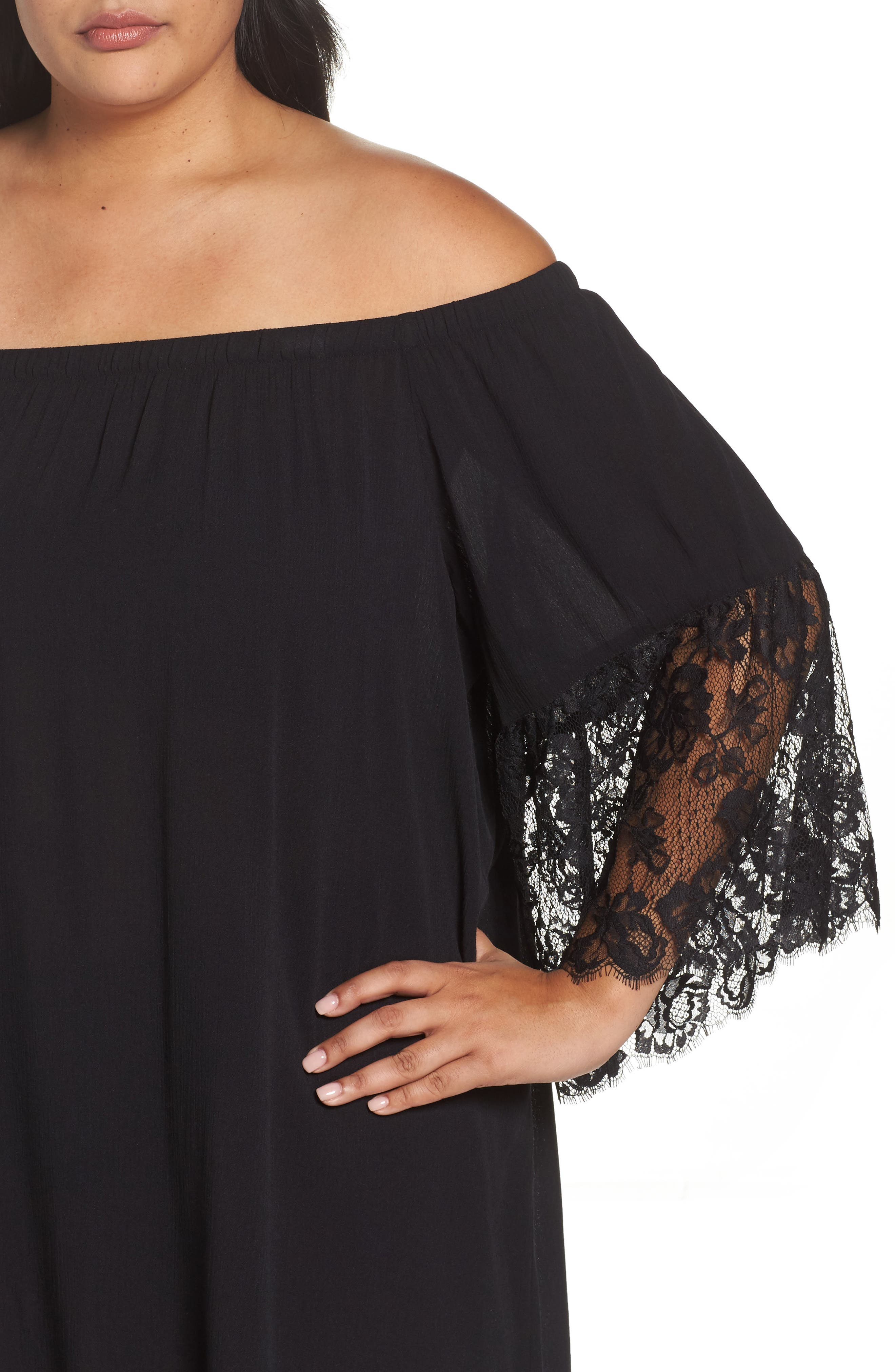 Off the Shoulder Cover-Up,                             Alternate thumbnail 7, color,