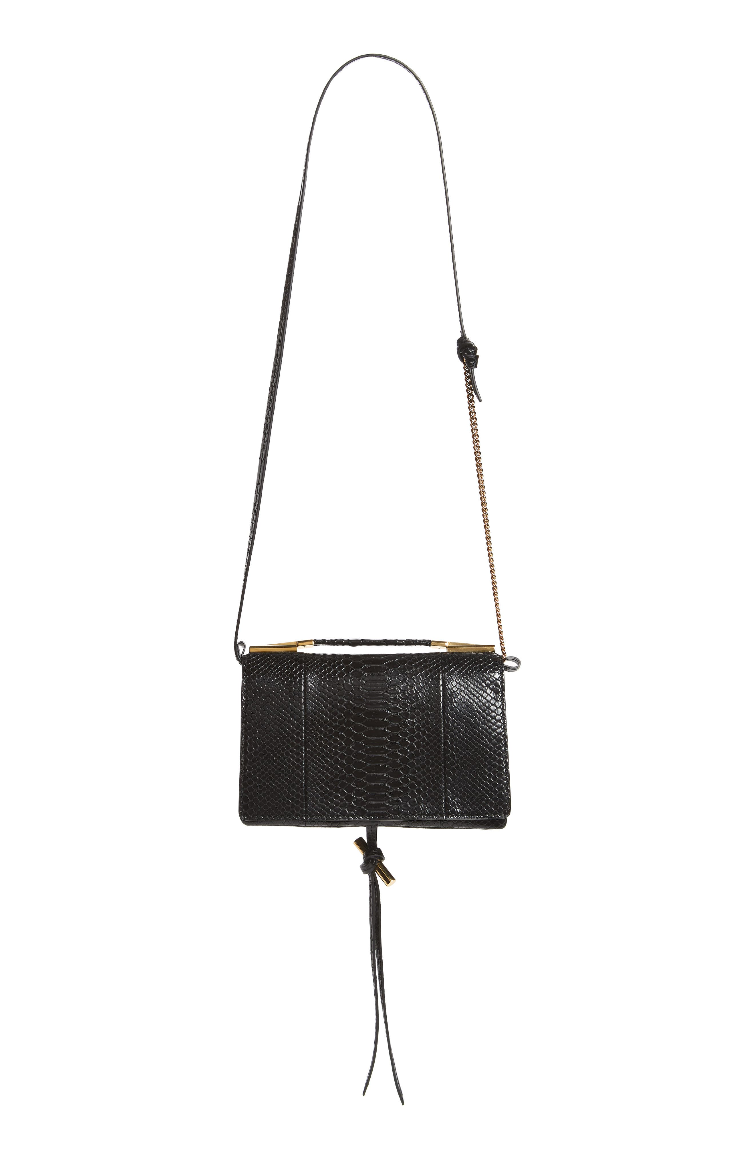 Small Flo Alter Snake Faux Leather Shoulder Bag,                             Alternate thumbnail 2, color,                             001