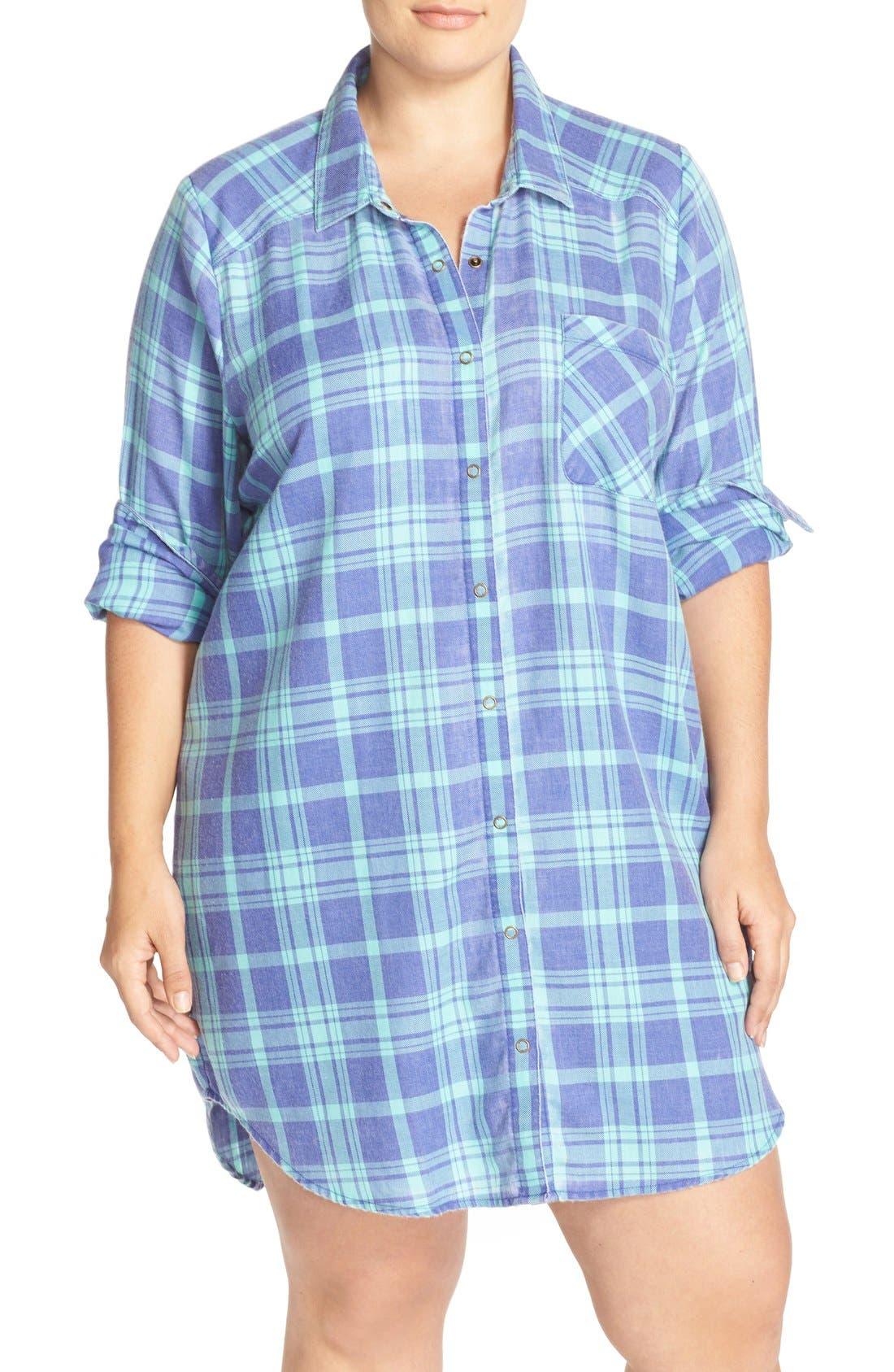 Plaid Night Shirt,                             Main thumbnail 5, color,